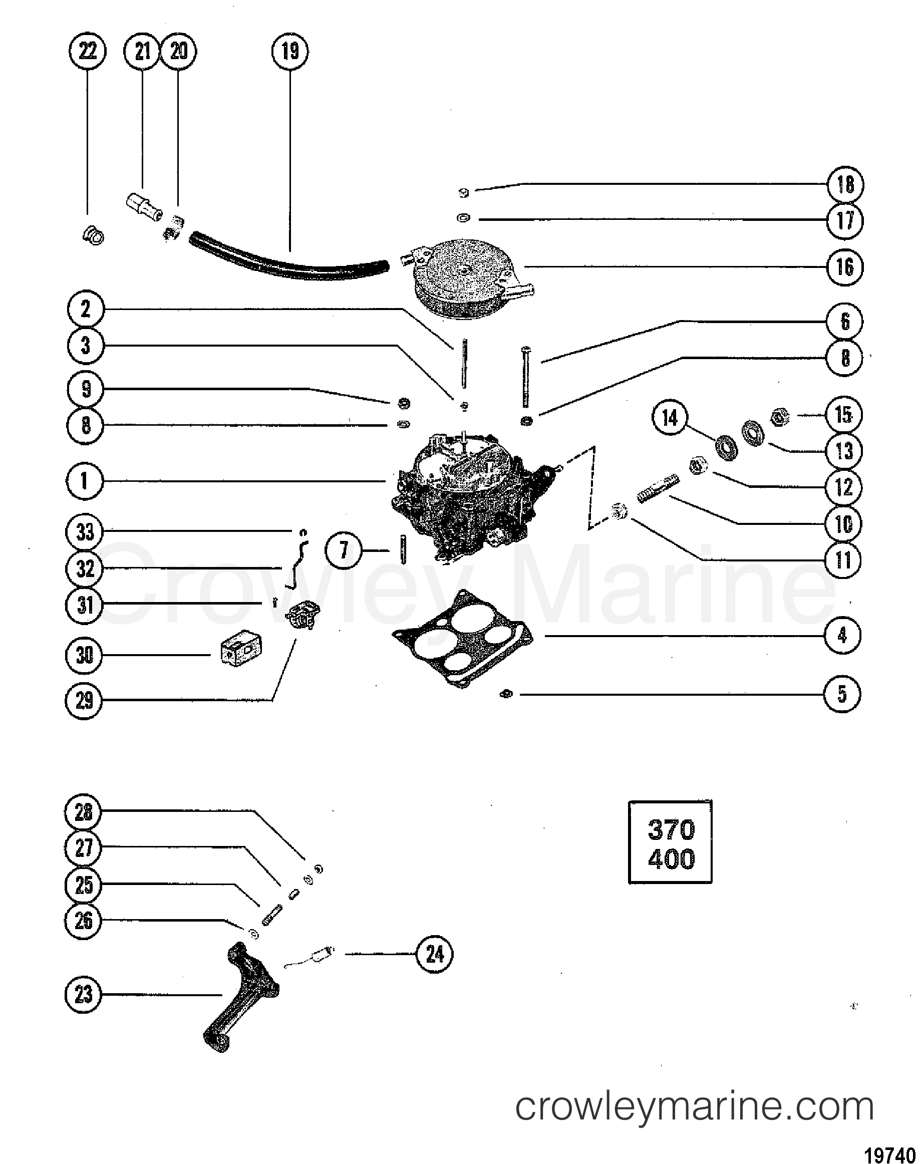 carburetor and automatic choke 370  400