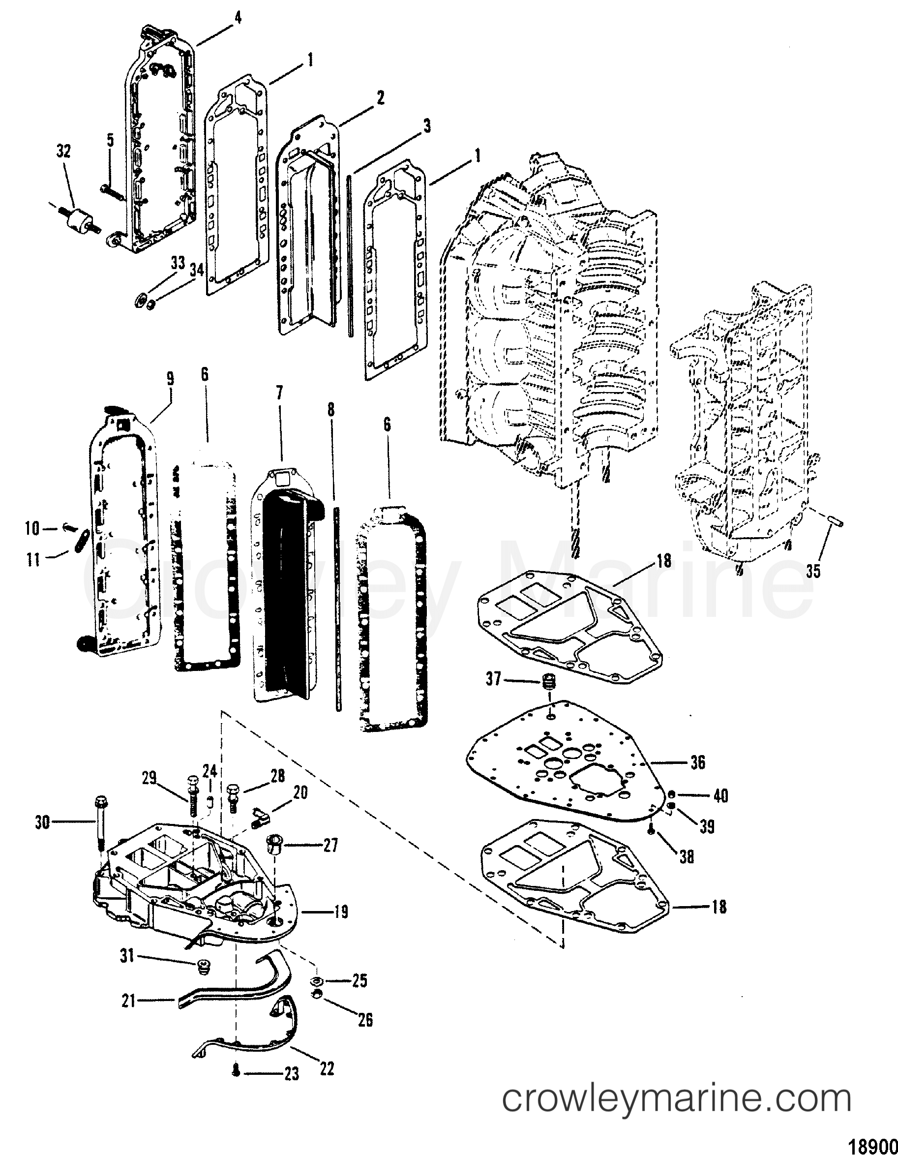 divider plate and exhaust plate