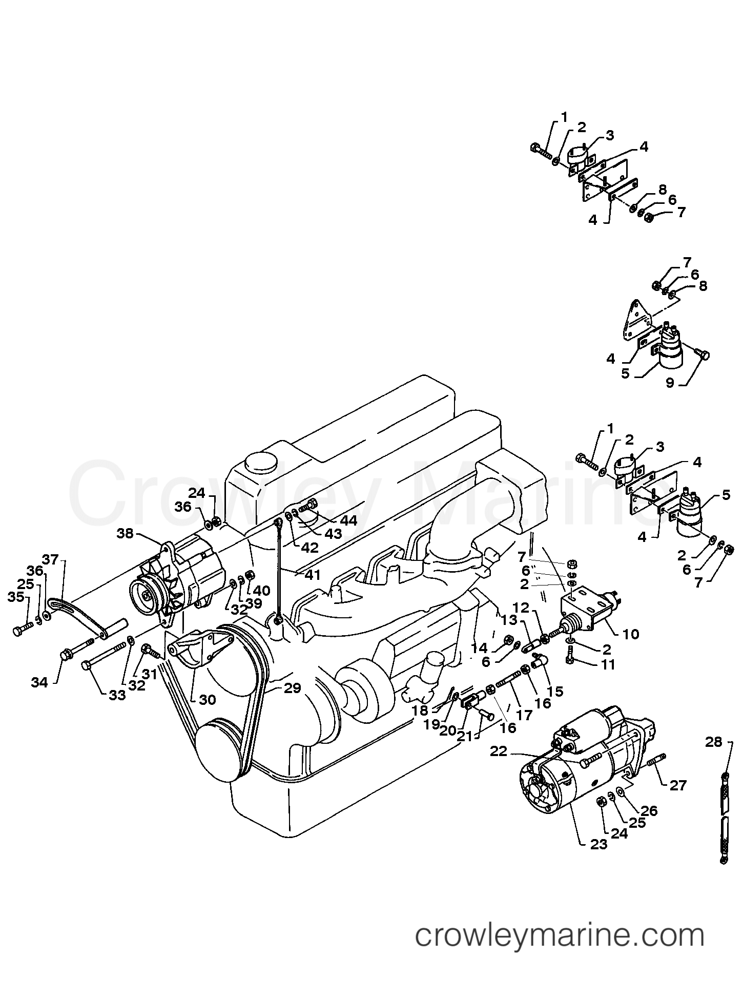 Serial Range Mercruiser EH700 (175/220HP) HINO 393 I/L6 - ALL