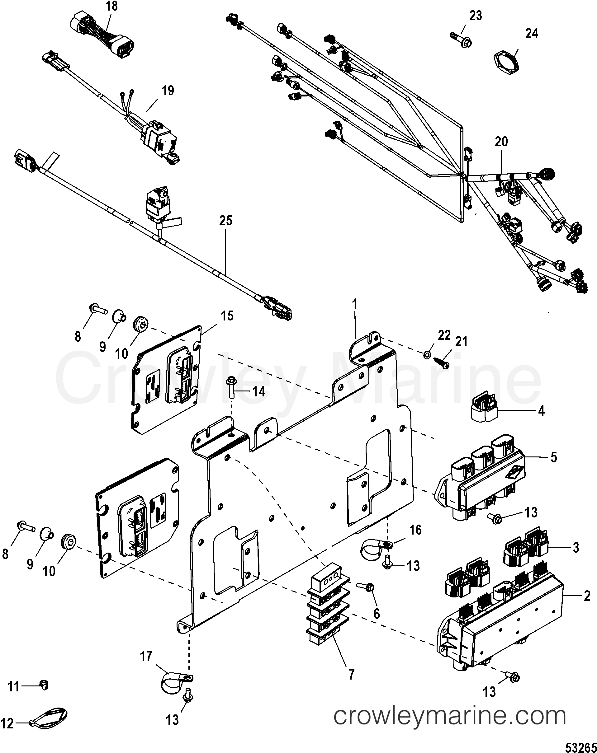 helm panel assembly, zeus (dual engine), 2 2 various years rigging SmartCraft Vessel View Schematic