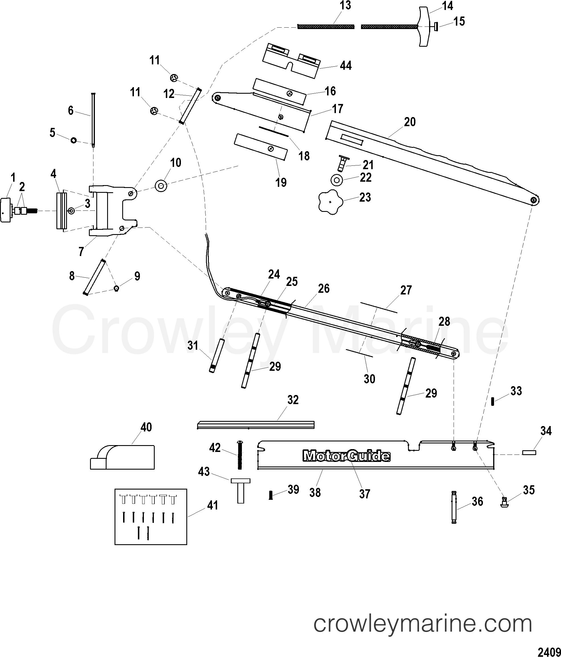 2005 MotorGuide 12V [MOTORGUIDE] - 921310040 16 BOW (BLACK)(MST91642A) section