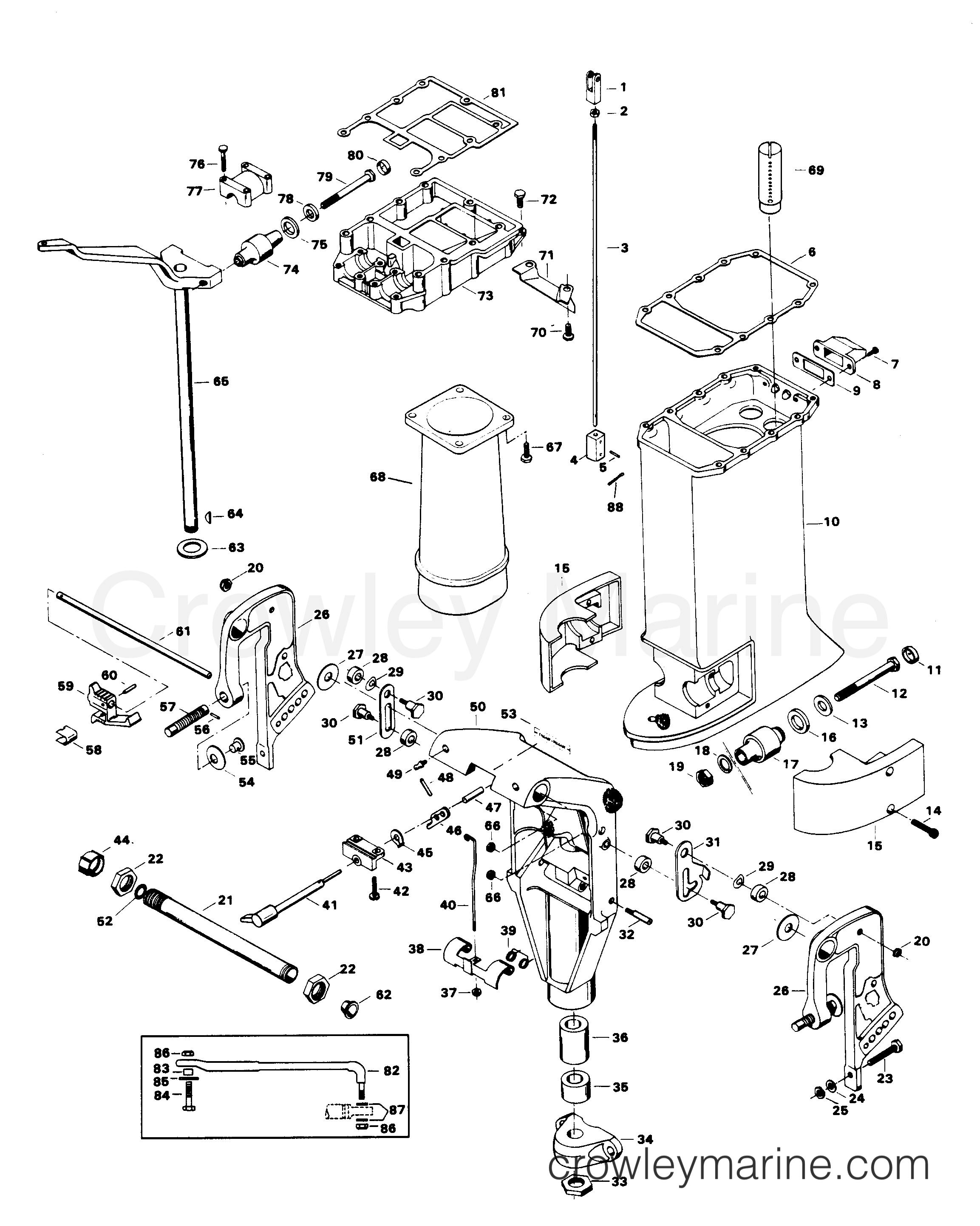 лодочного мотора chrysler запчасти