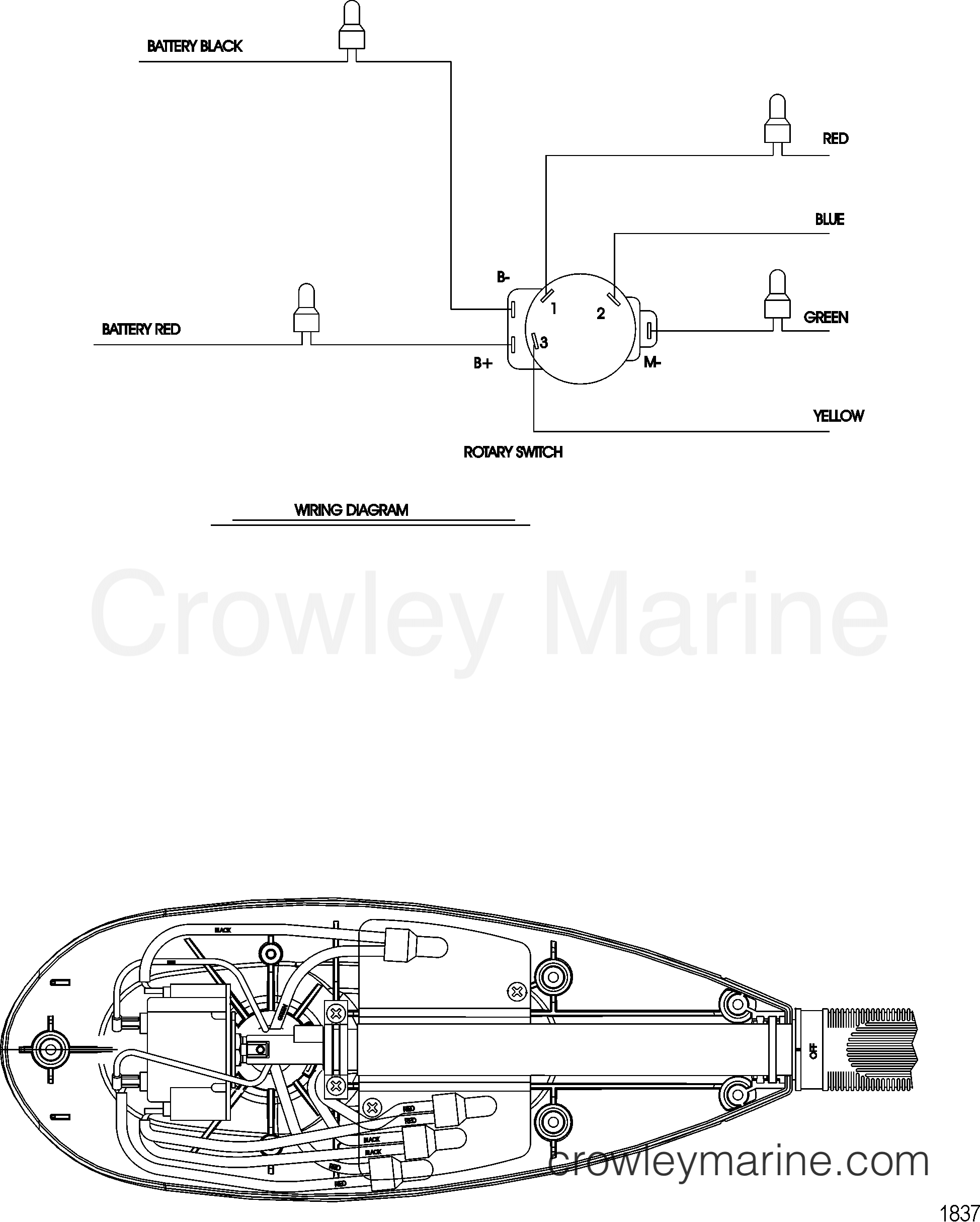 2008 MotorGuide 12V [MOTORGUIDE] - 92131013R WIRE DIAGRAM(MODEL FW71HB) (WITHOUT QUICK CONNECT) section