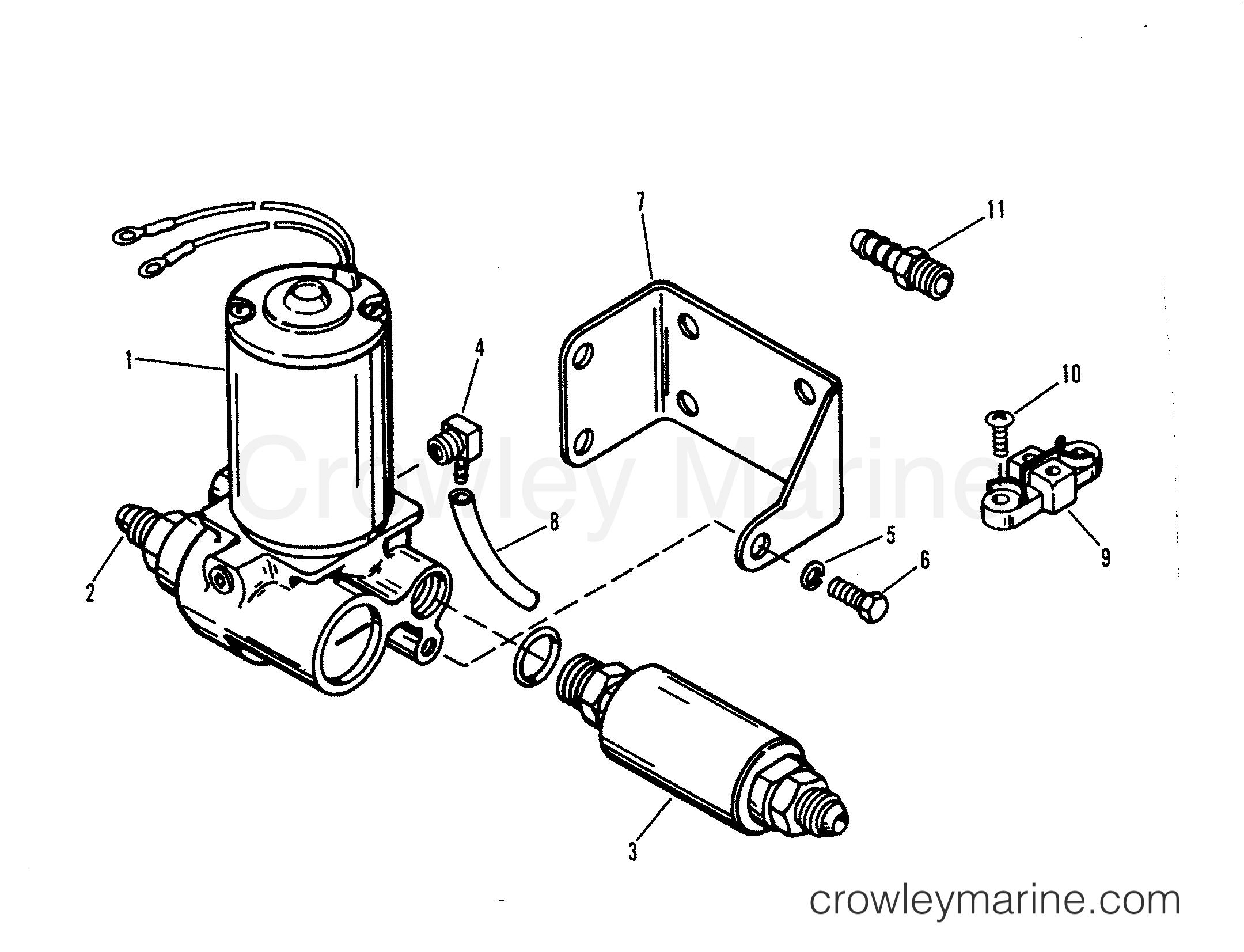 1991 Mercury Race Outboard 2.5L [CL EFI] - 7925212YH - FUEL PUMP section