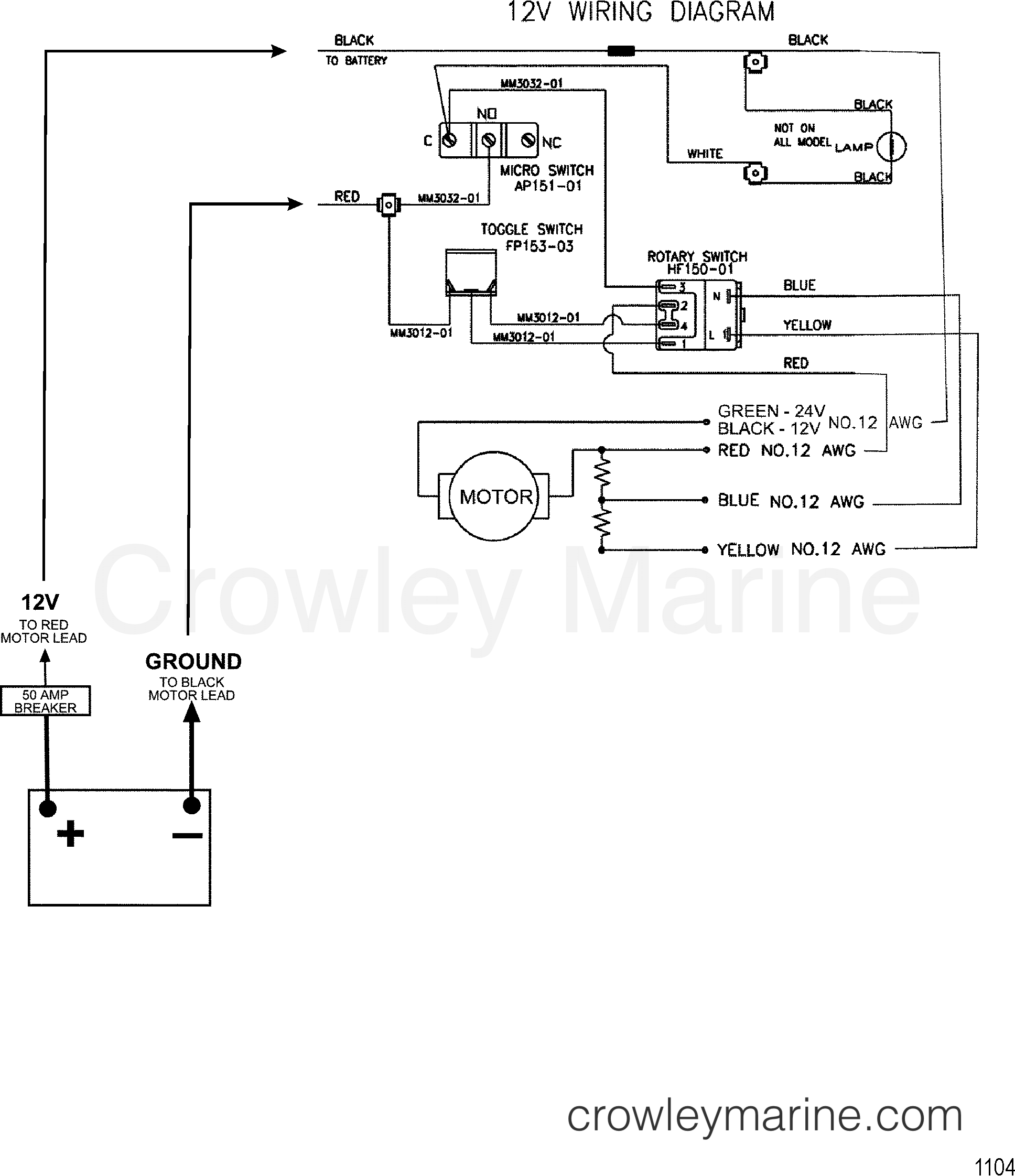 1999 MotorGuide [MOTORGUIDE] - 9767B4HV7 - WIRE DIAGRAM(MODEL 743) (12
