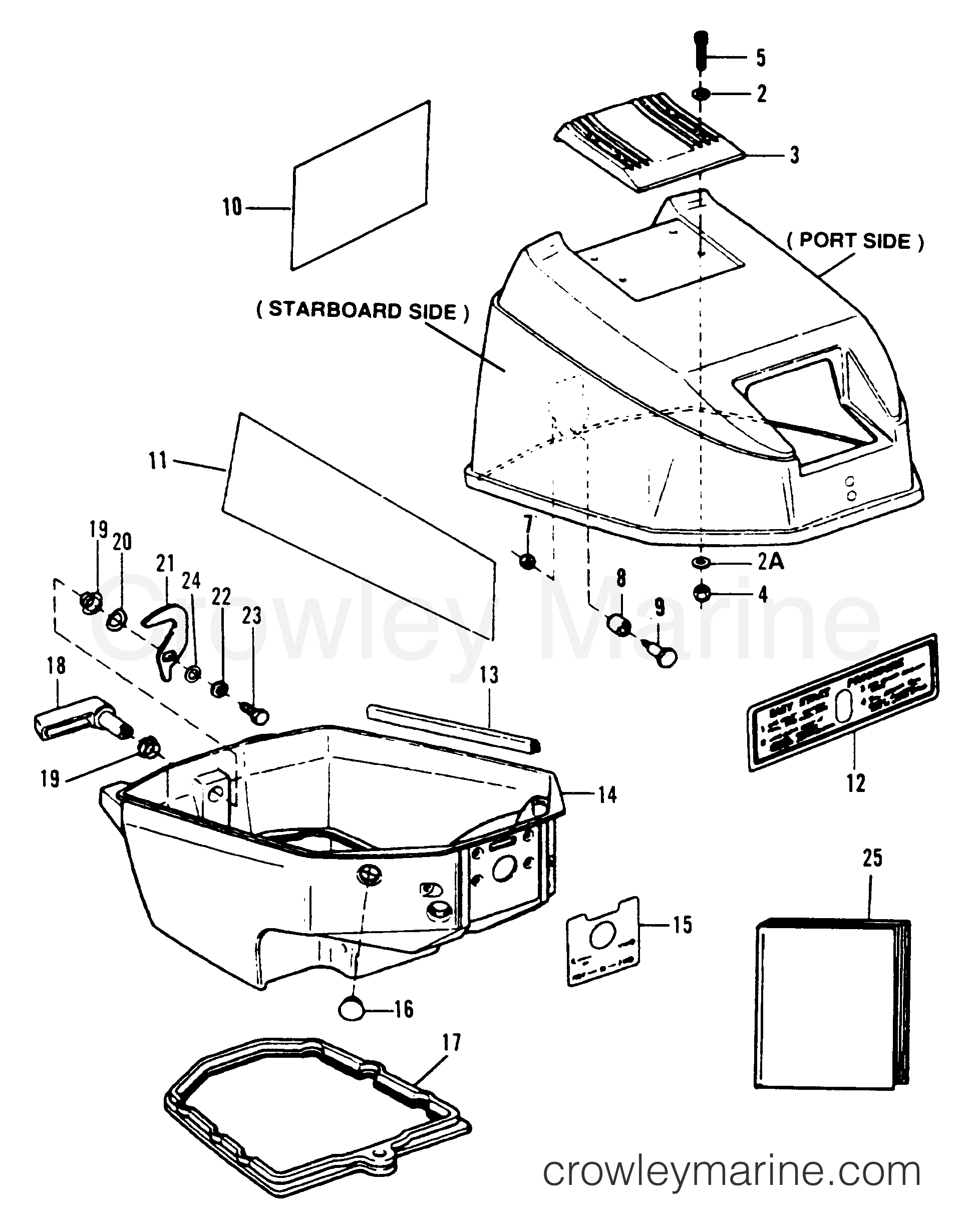 cowl assembly - top  u0026 bottom