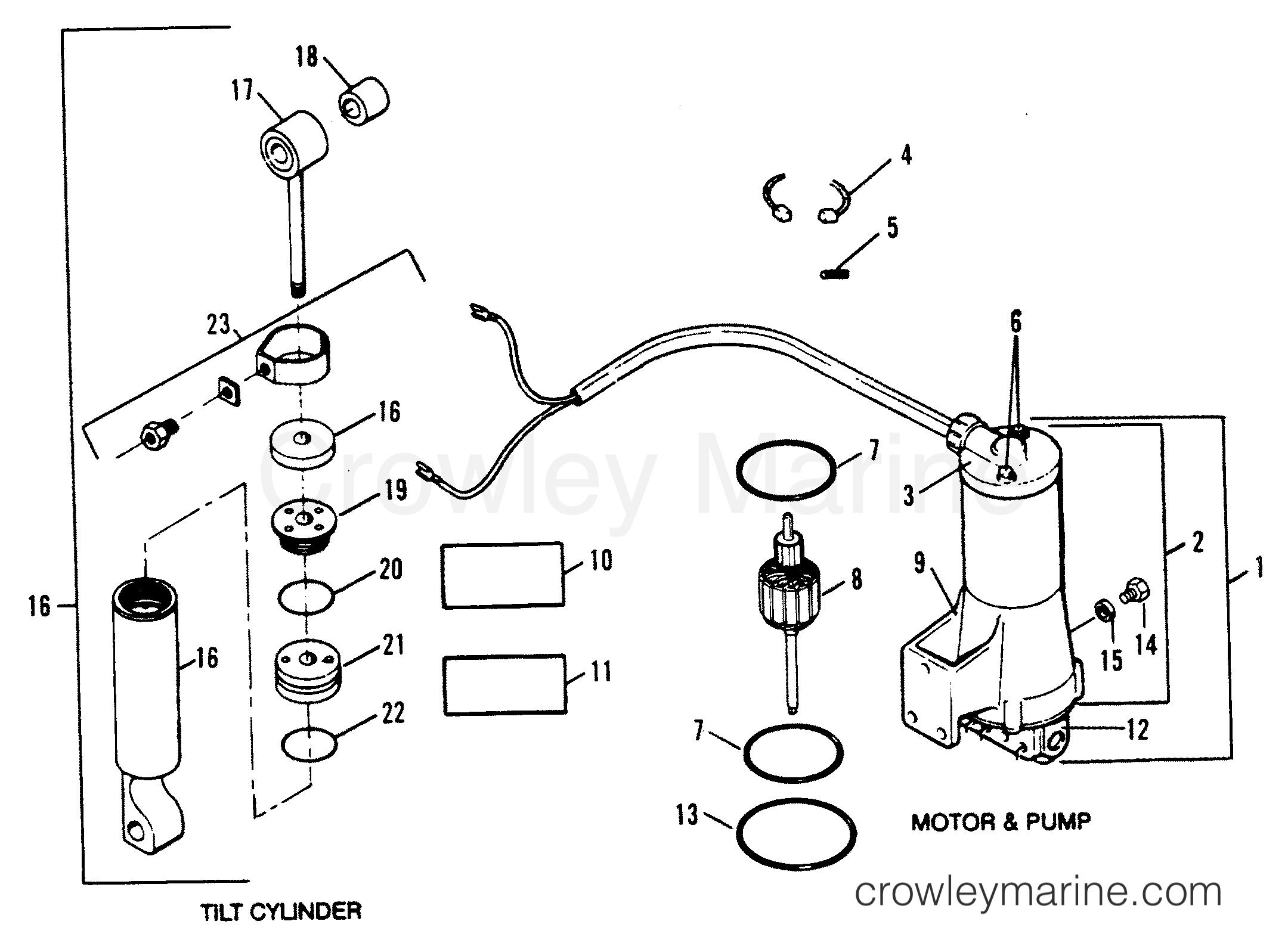 Tilt Cylinder    Motor And Pump