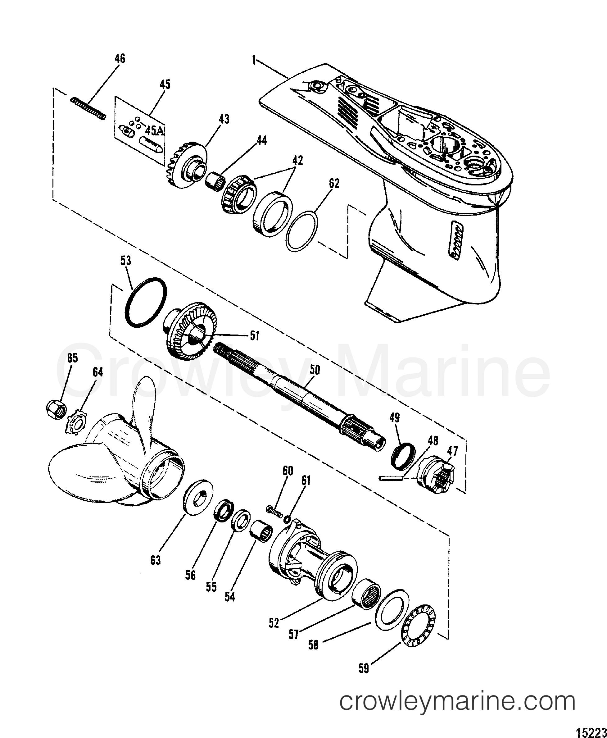 gear housing propeller shaft 1990 mariner outboard 90. Black Bedroom Furniture Sets. Home Design Ideas