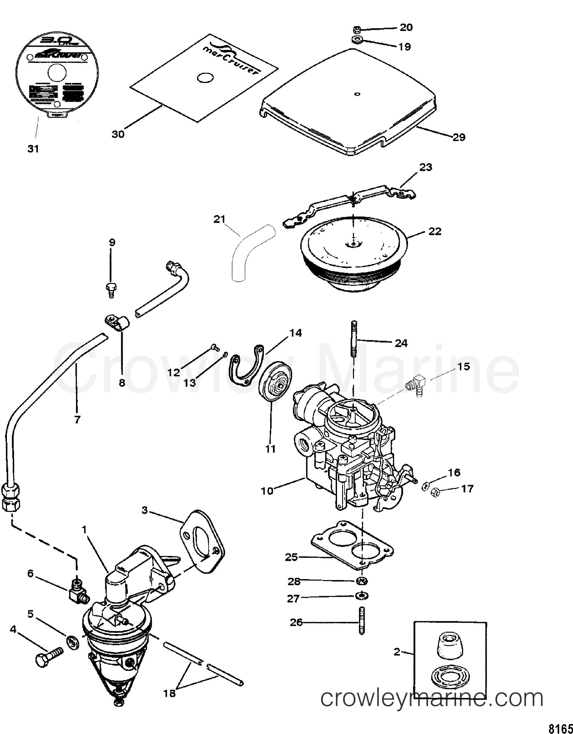 fuel pump and carburetor