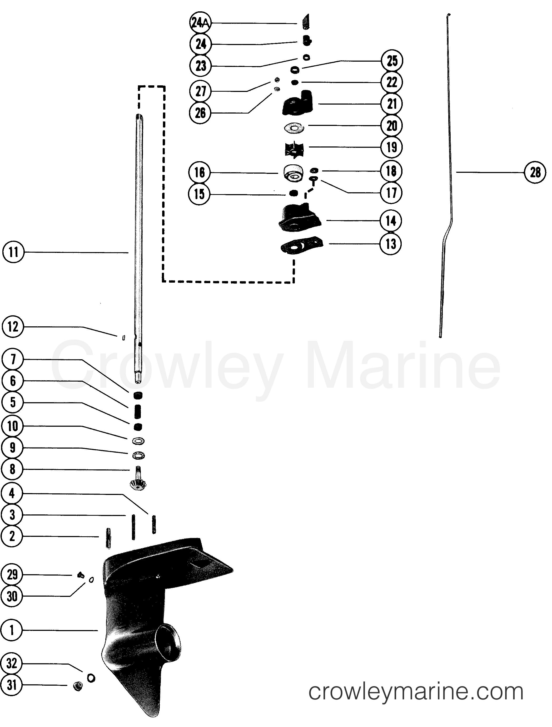 gear housing assembly  drive shaft