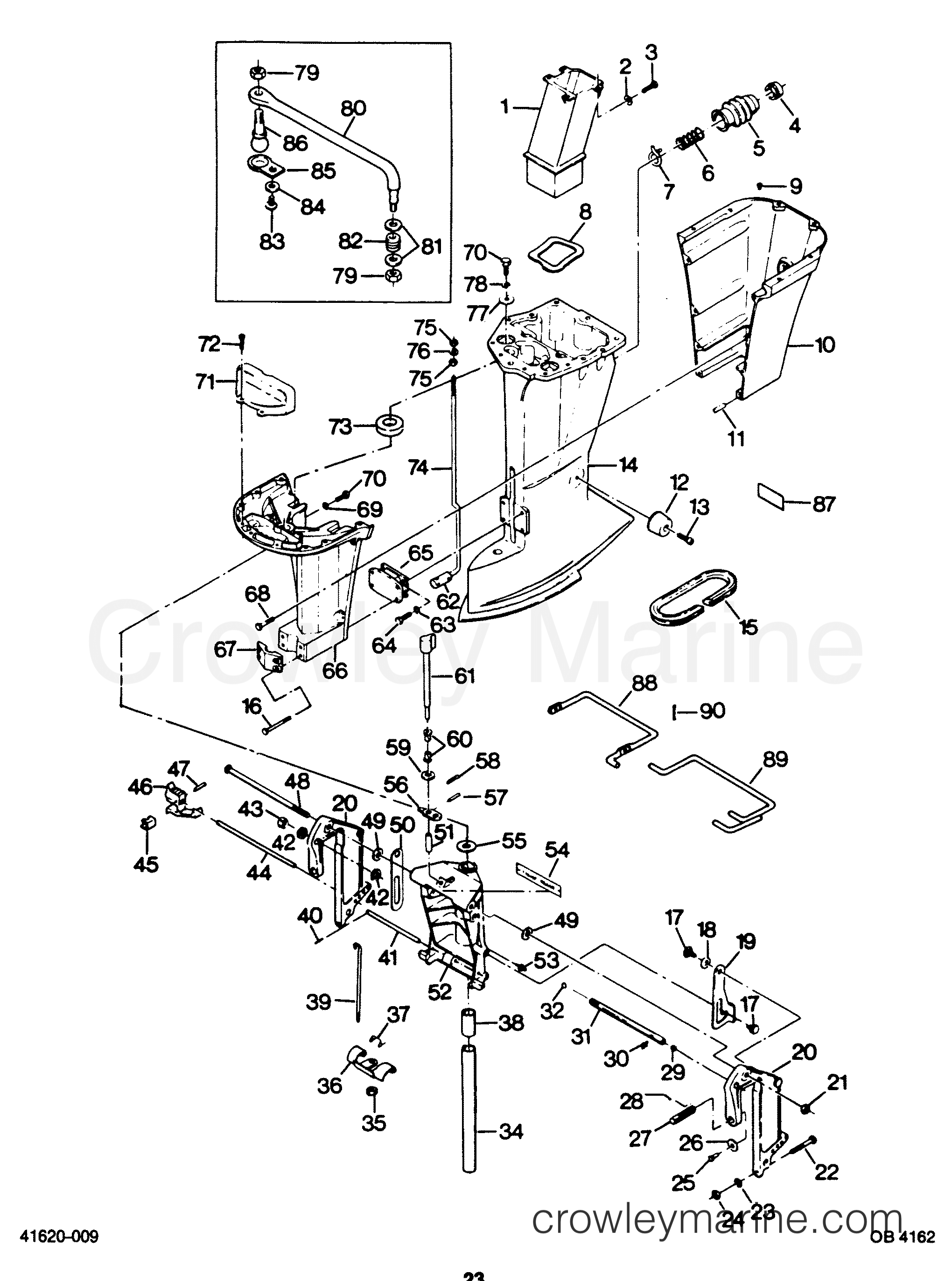 Diagram Of 1987 Force Outboard H0856c87b Motor Leg Diagram And Parts