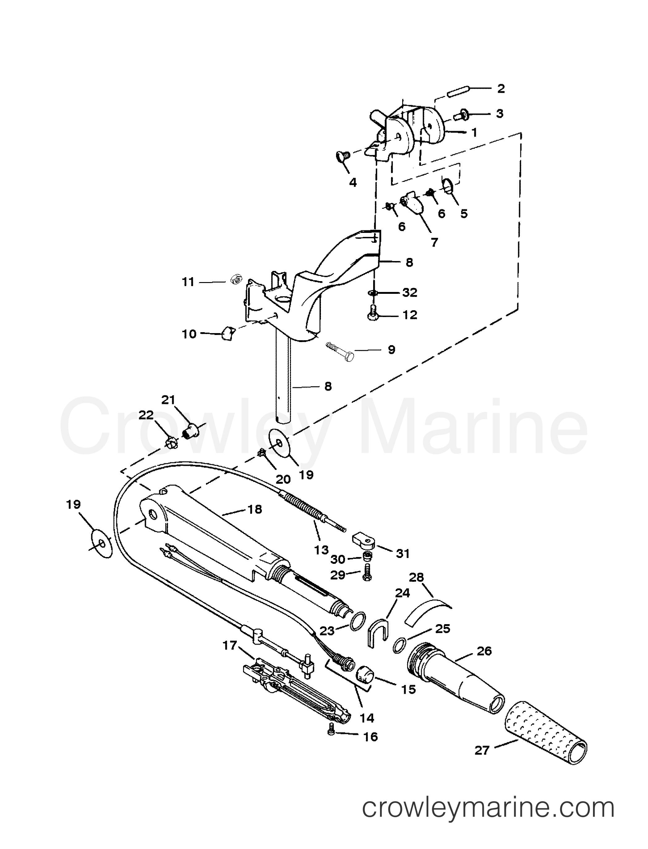 steering handle  twist grip throttle