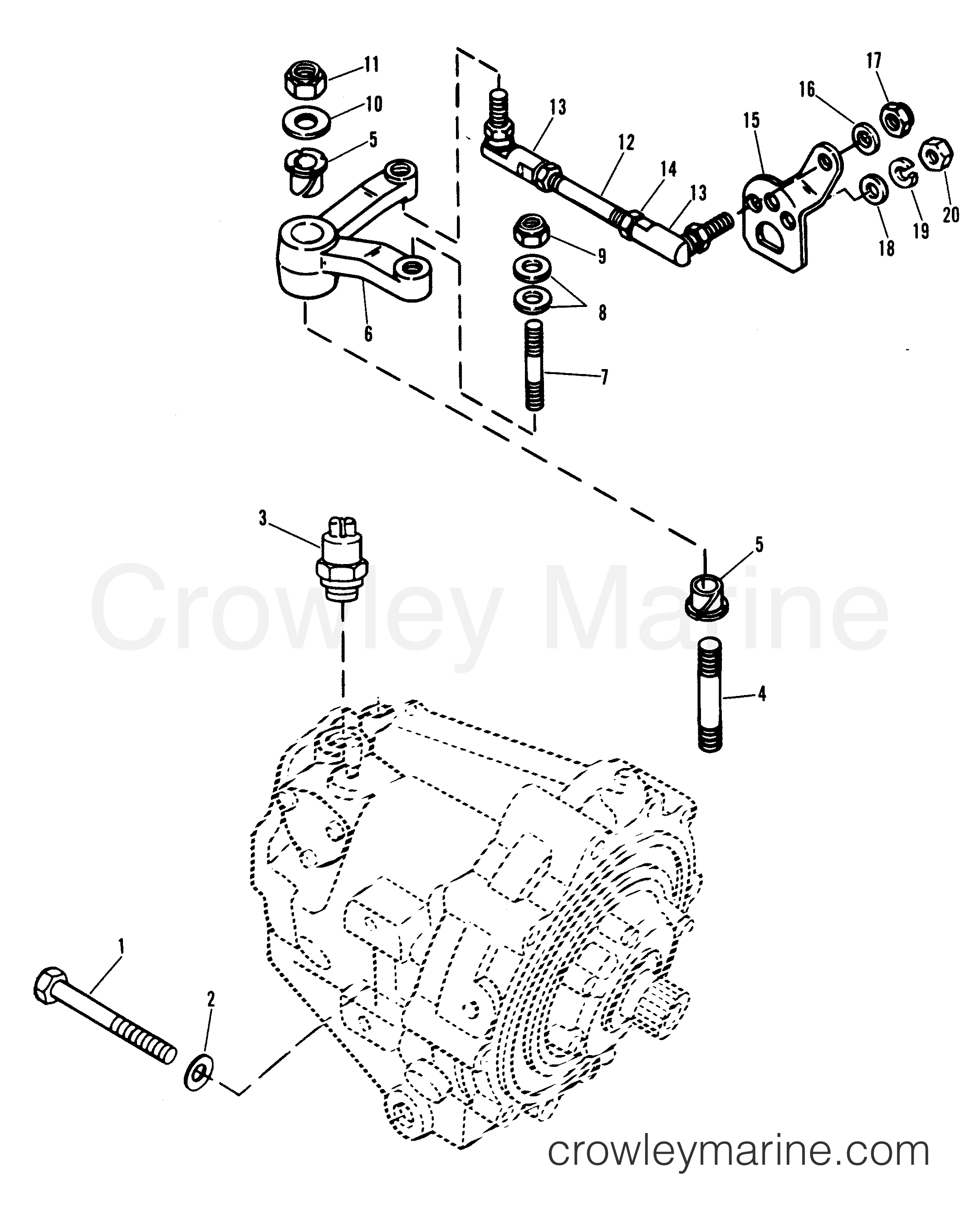 mercruiser lower shift diagrams