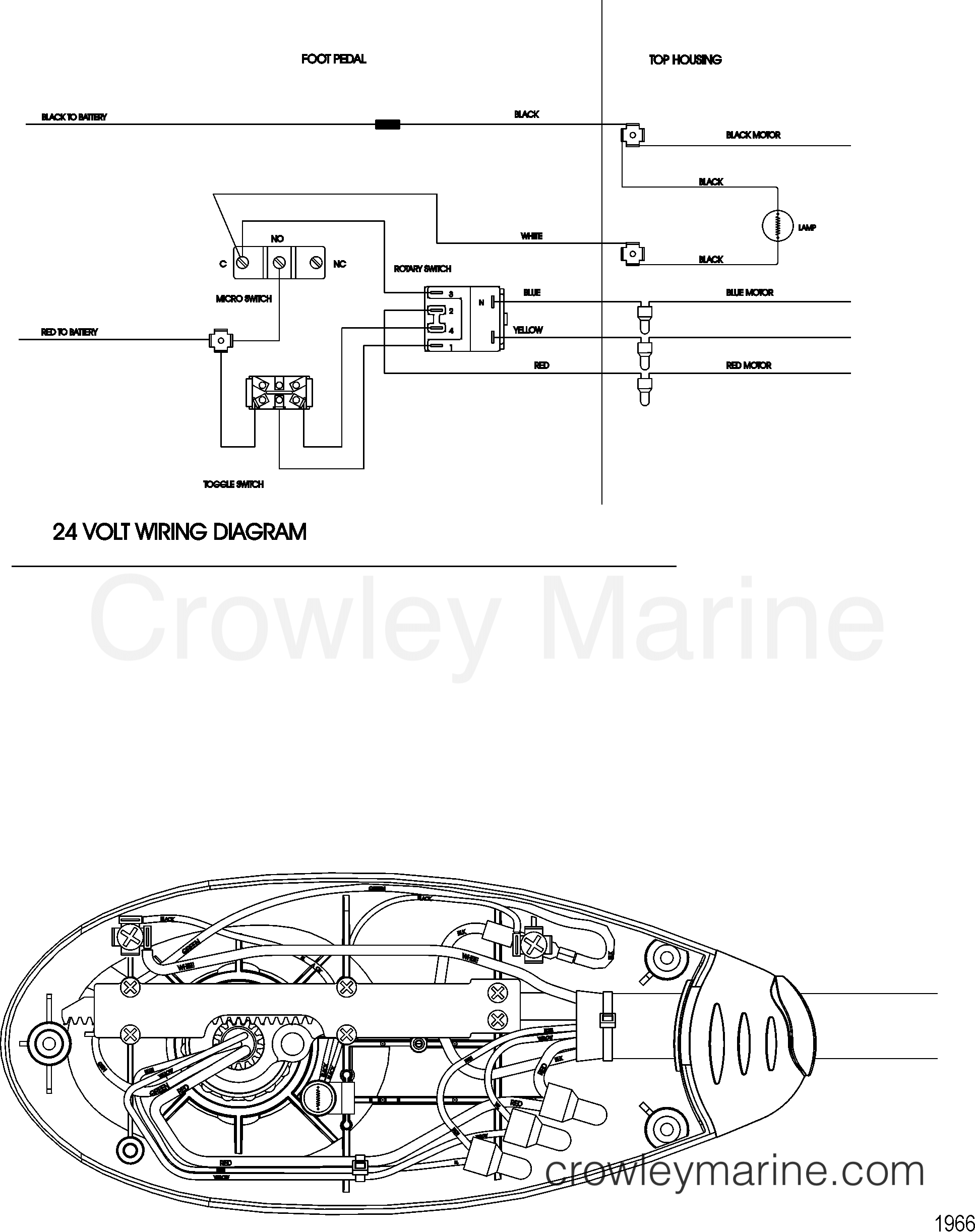 2005 MotorGuide 24V [MOTORGUIDE] - 923210020 WIRE DIAGRAM(MODEL FW60FB) section