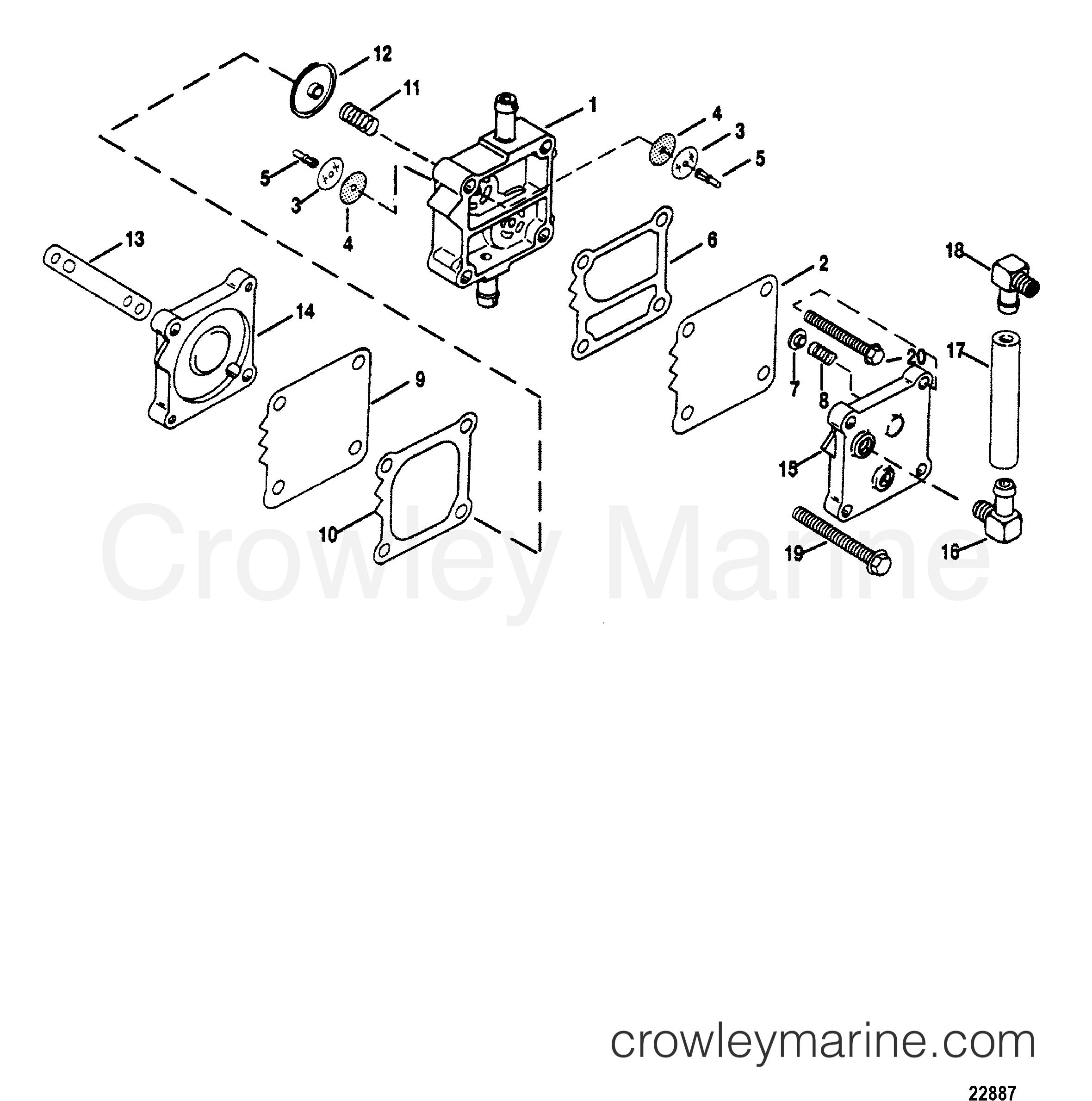 1993 Mariner Outboard 200 [CXL] - 7200425BD FUEL PUMP section