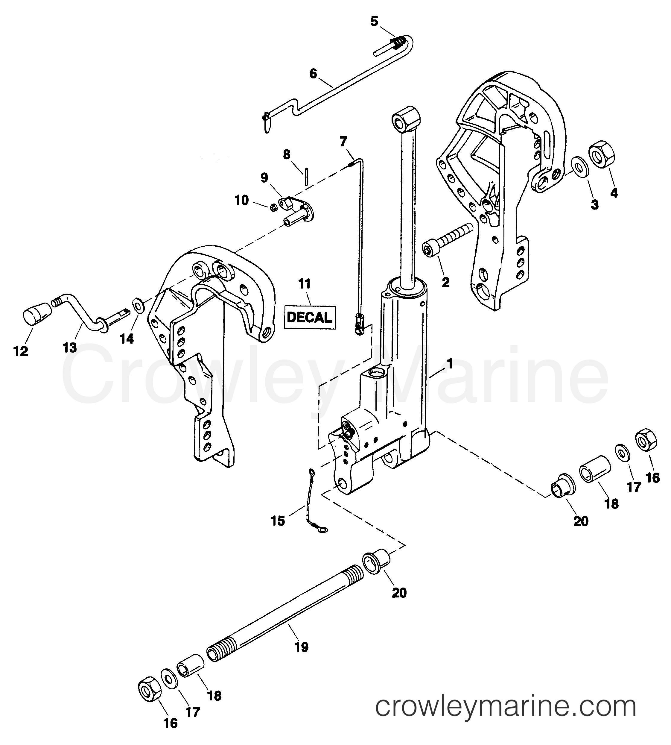 Mercury Force 120 Parts 140 Hp Wiring Diagram Trim Kit Gas Assist 828533a2 Serial Range Outboard Rh Crowleymarine Com 75