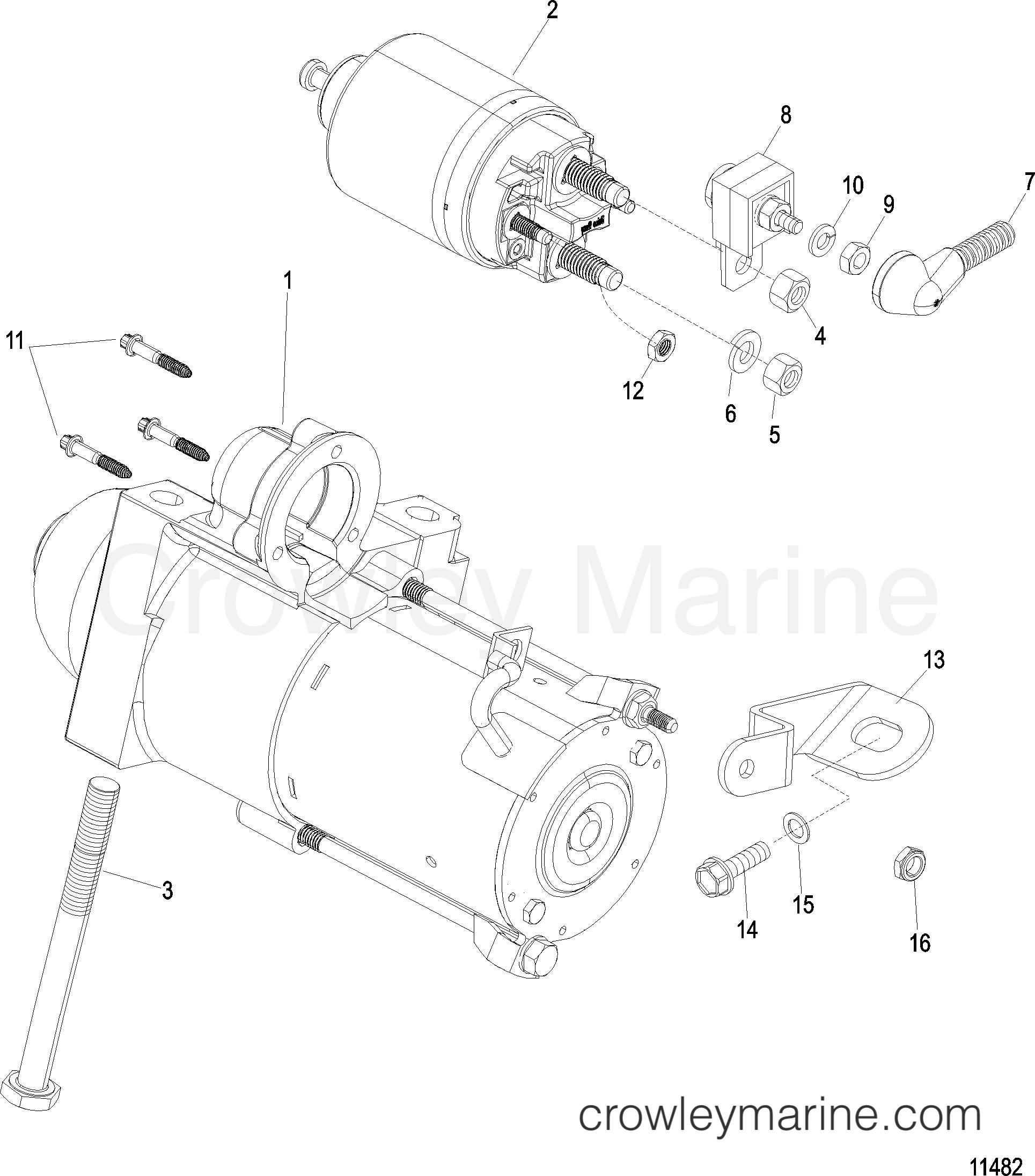 1998 Mercruiser 3.0L [ALPHA] - 4111021UT - STARTER MOTOR section