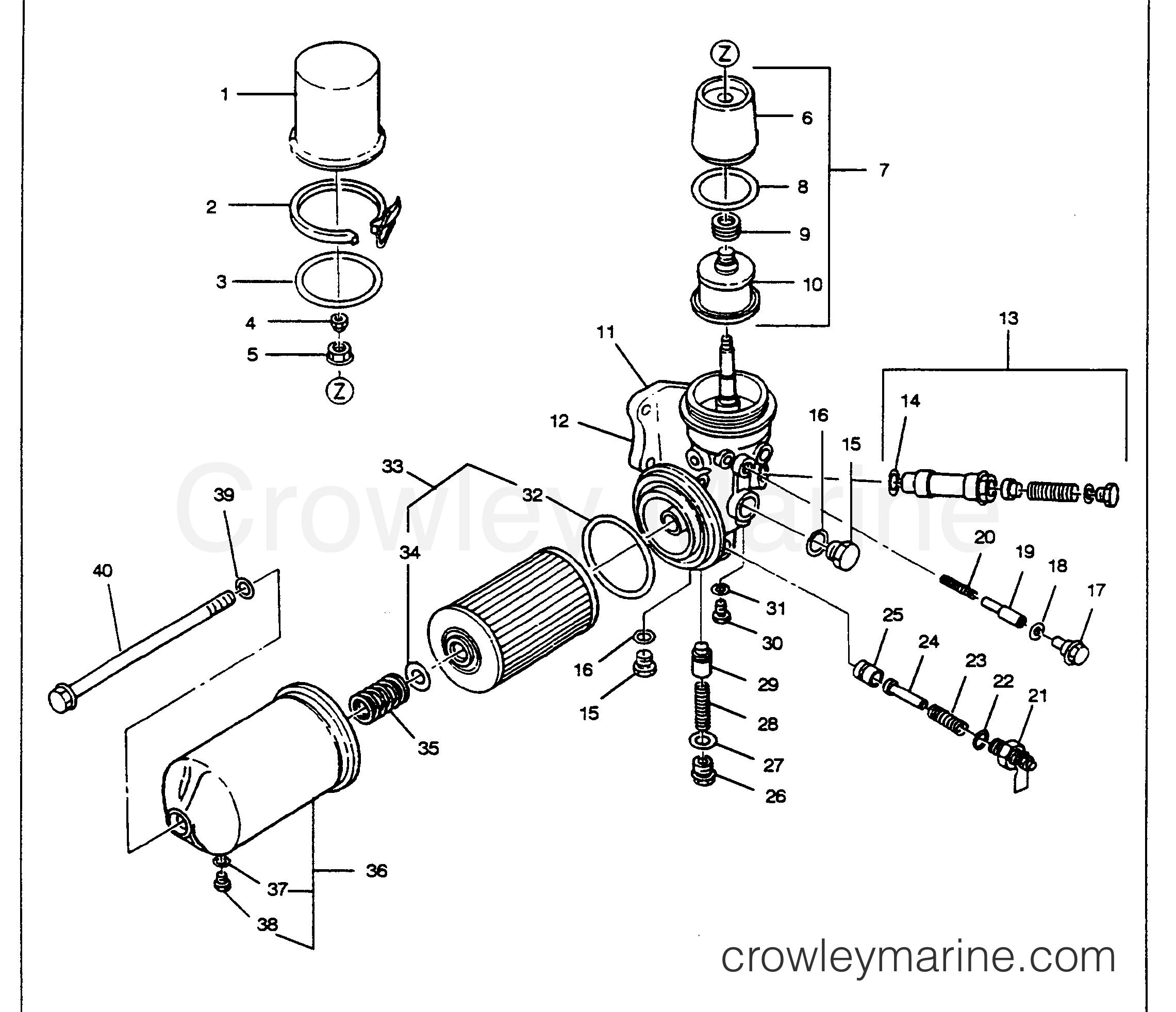 oil filter assembly figure 1-e3