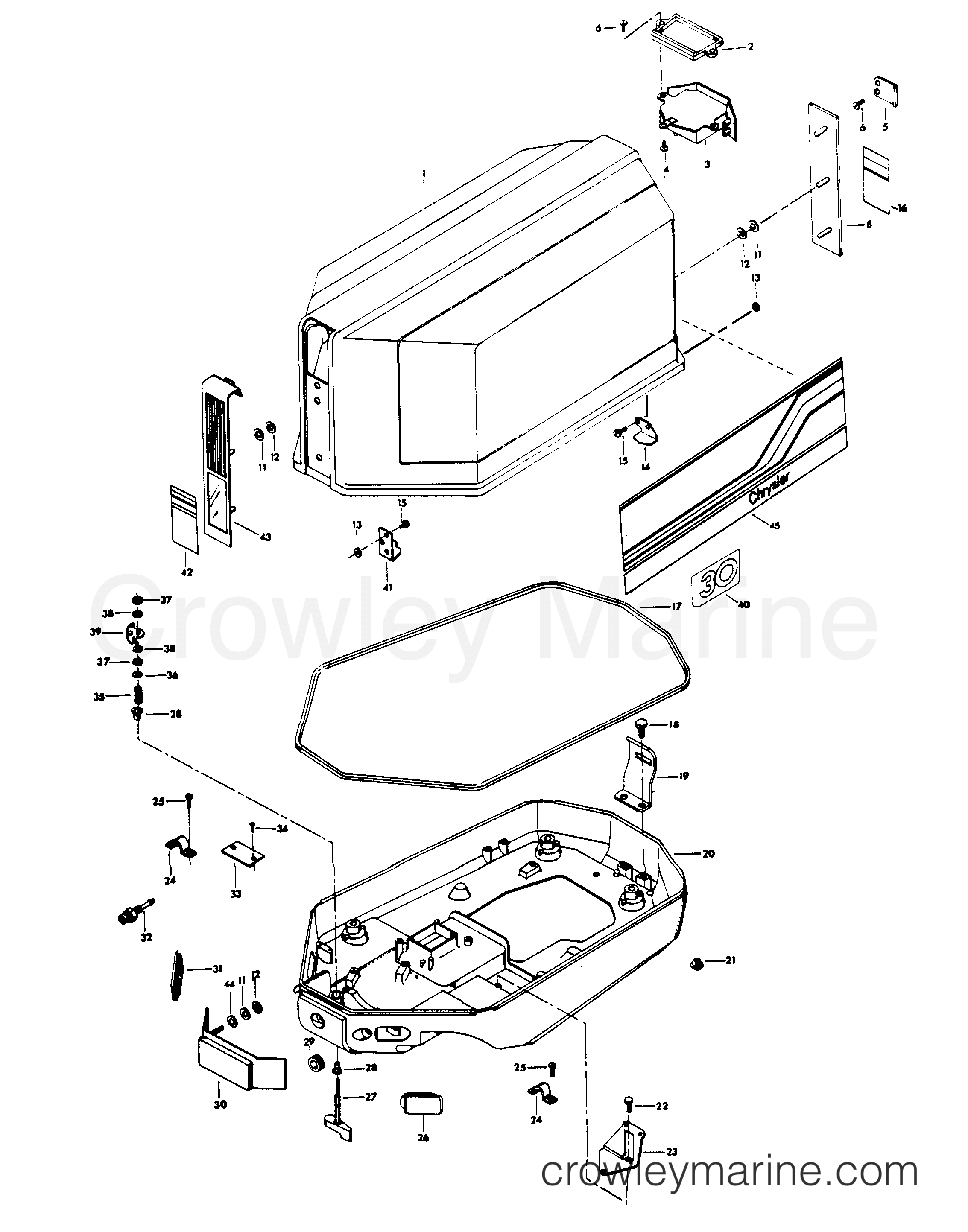 engine cover and support plate  alternator models