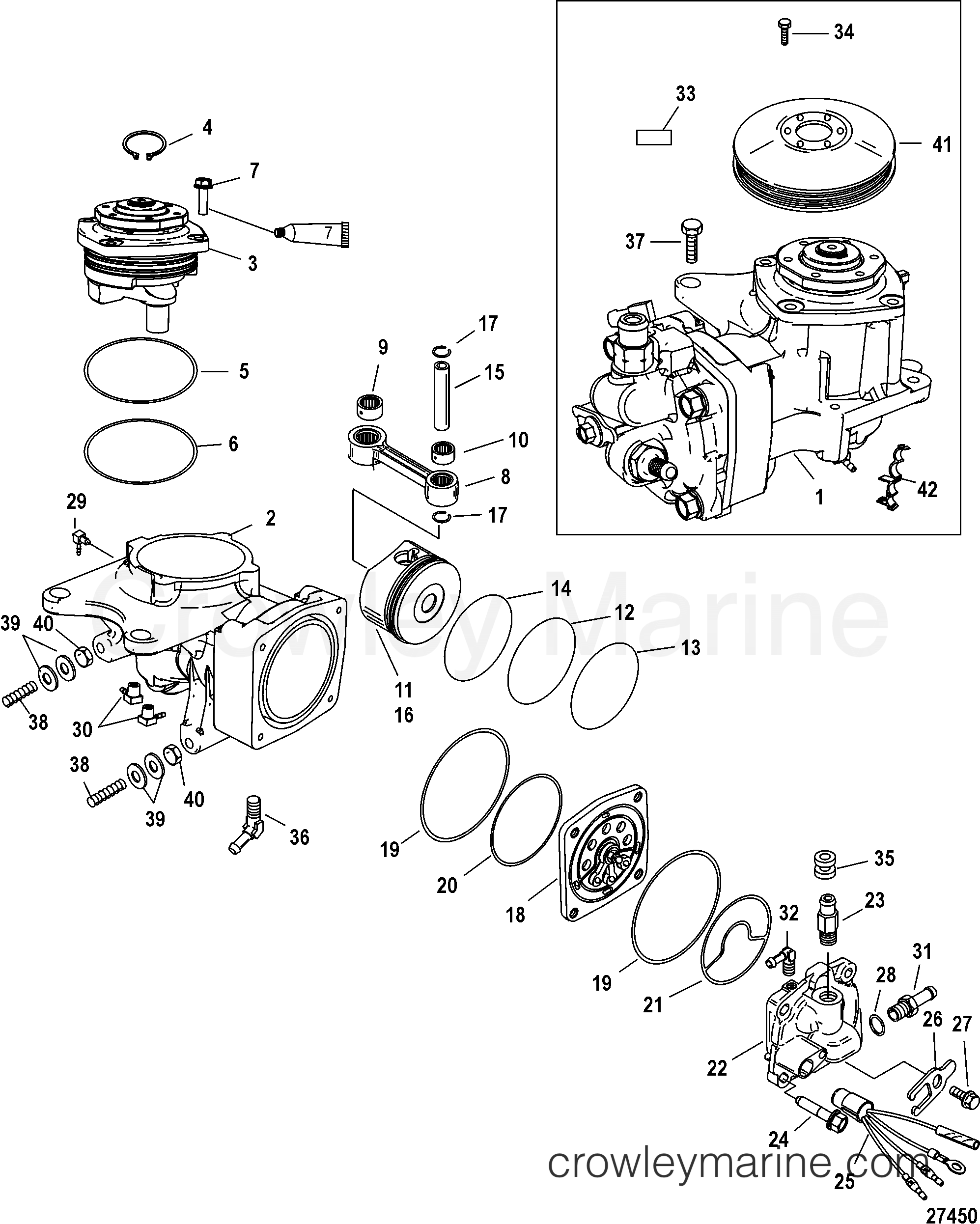air compressor components  sn 1b884880 and below