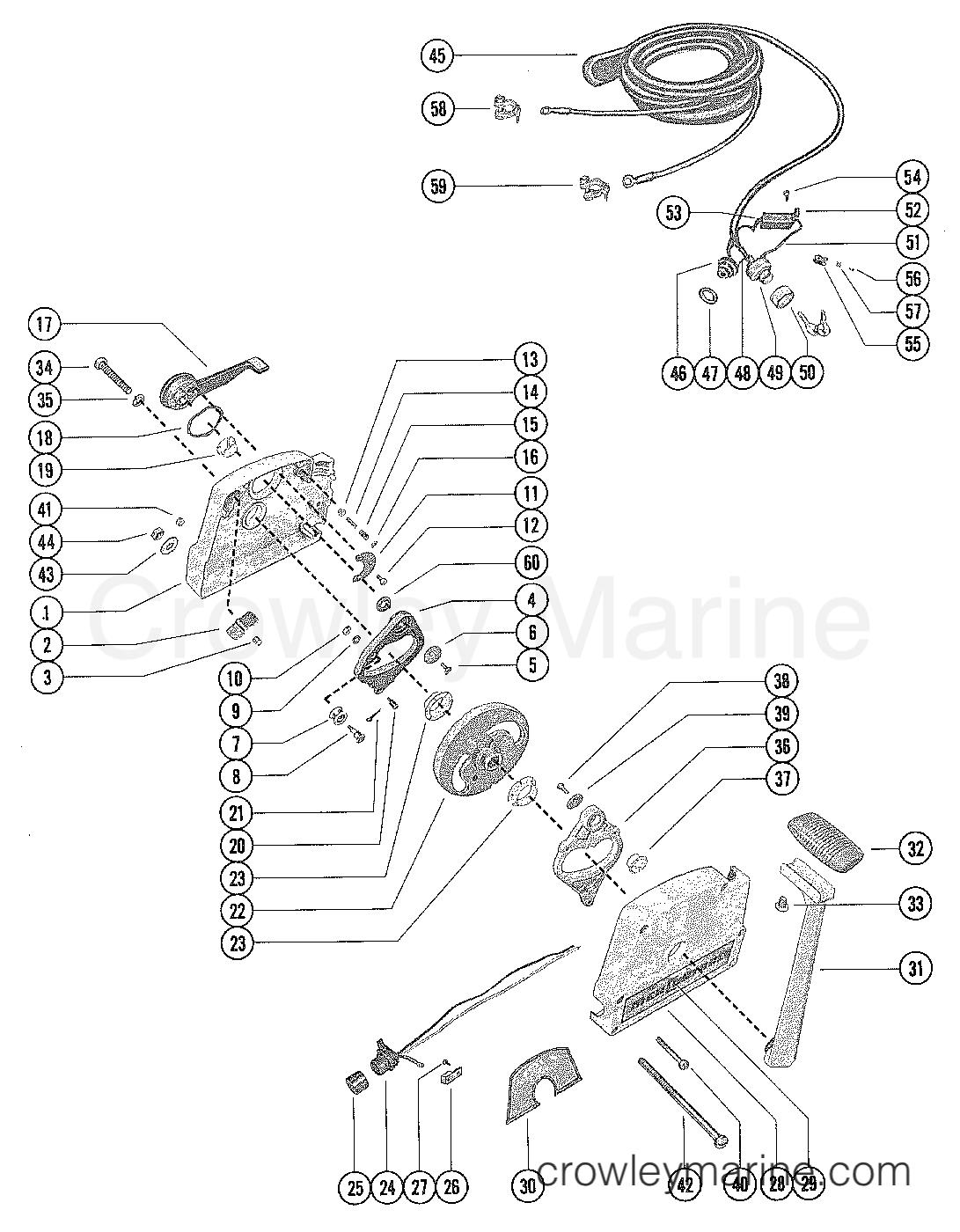 REMOTE CONTROL ASSEMBLY (ELECTRIC) - 1978 Mariner Outboard 115 [ELPT]  7115628 | Crowley MarineCrowley Marine