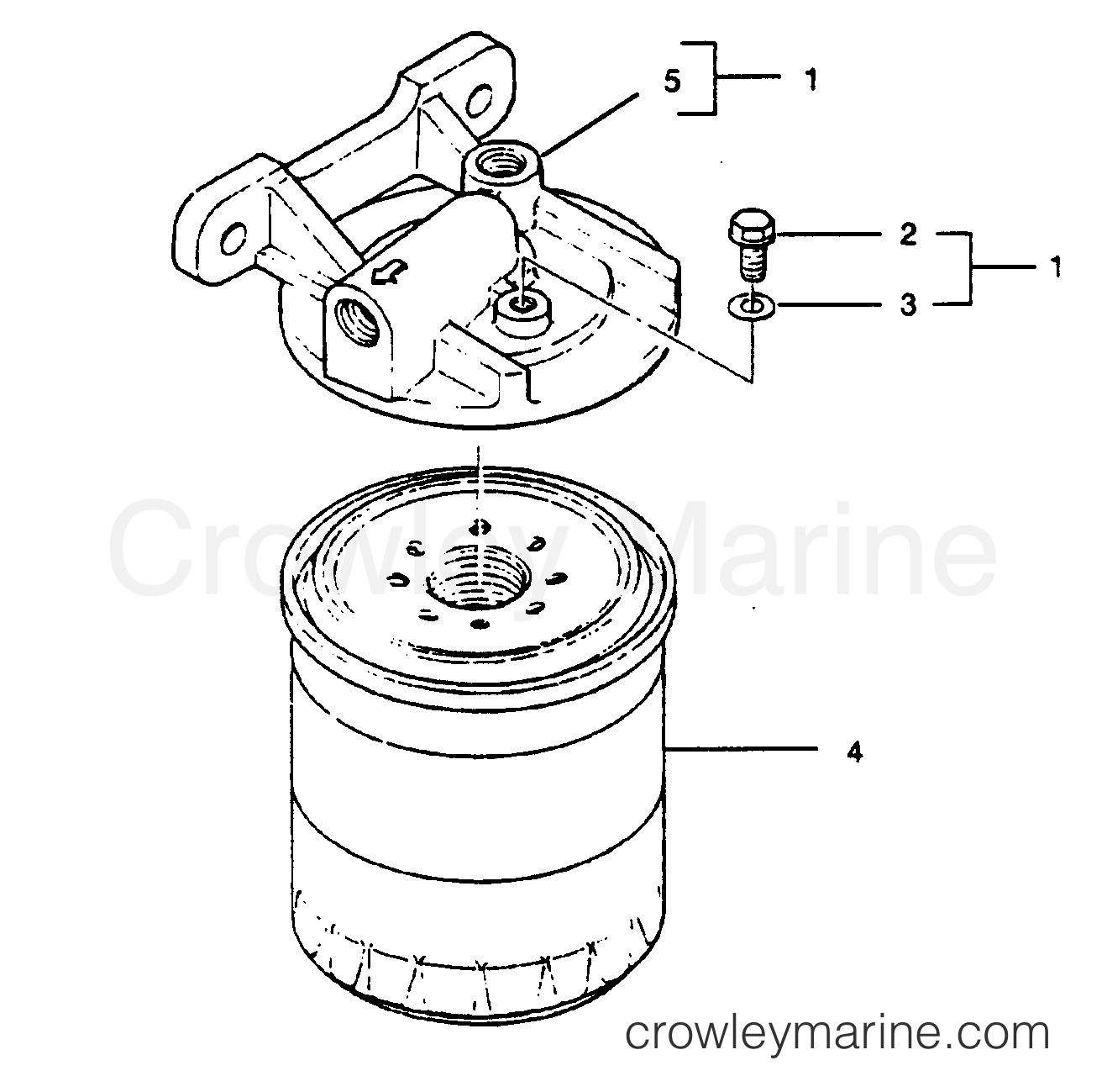 FUEL FILTER BASE EMBLY (P/N 233002010) - All Years U.S. Marine ...