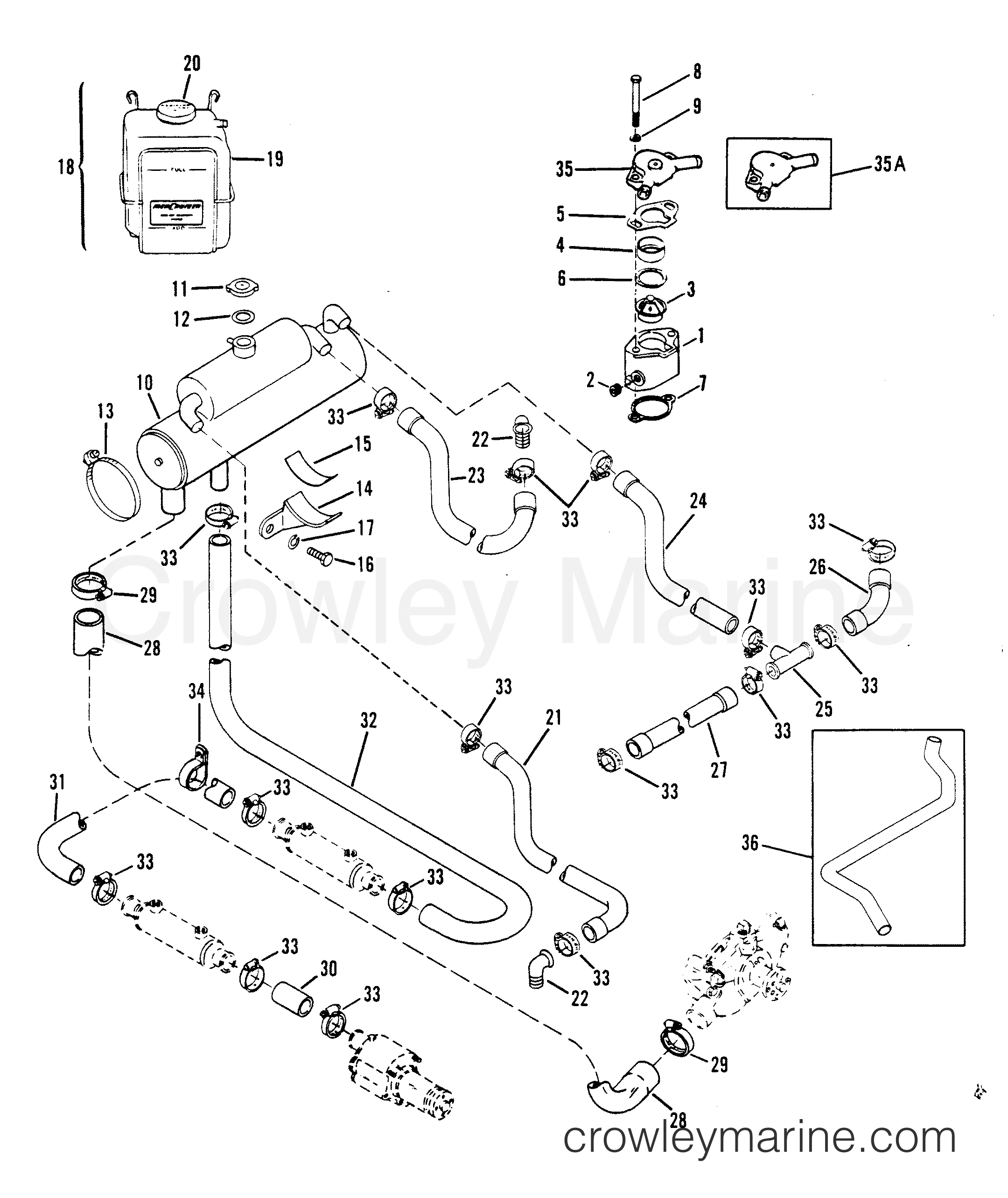 1993 mercruiser exhaust parts diagram  vacuum  auto wiring