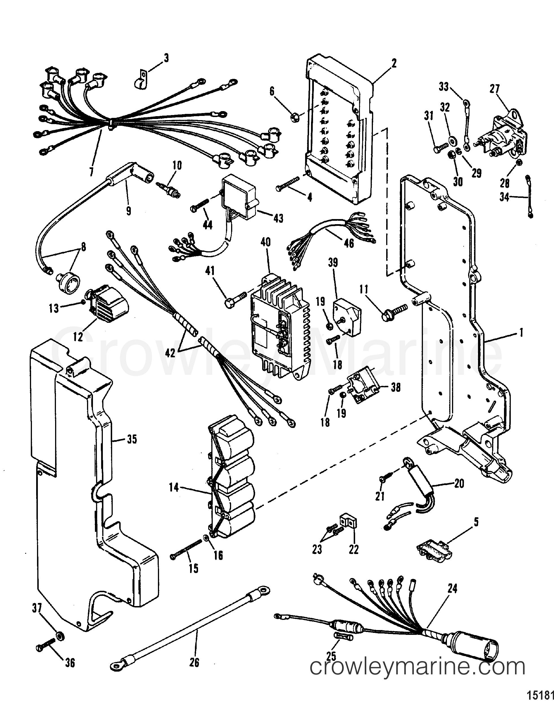 mariner outboard engine wiring diagram electrical components 1988 mariner outboard 100  elpto  mariner outboard 100  elpto