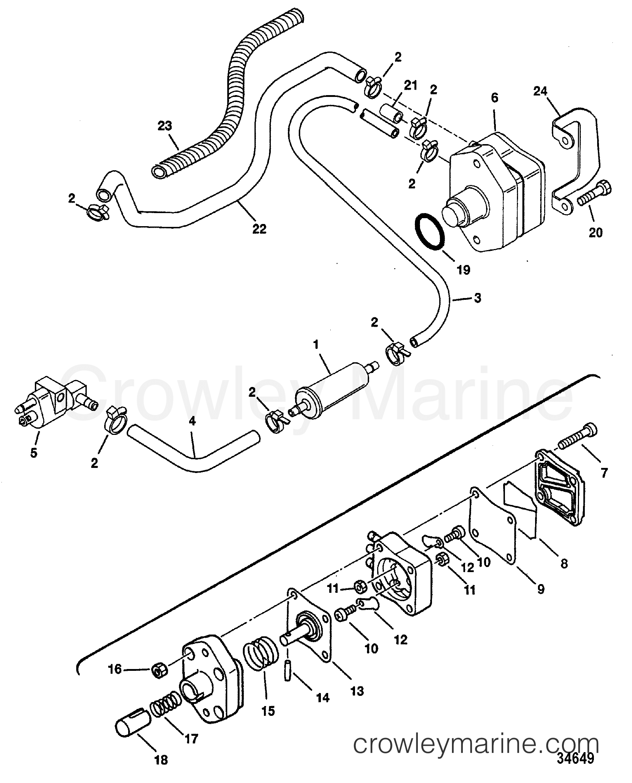 fuel pump  bf 4  1f25312vd