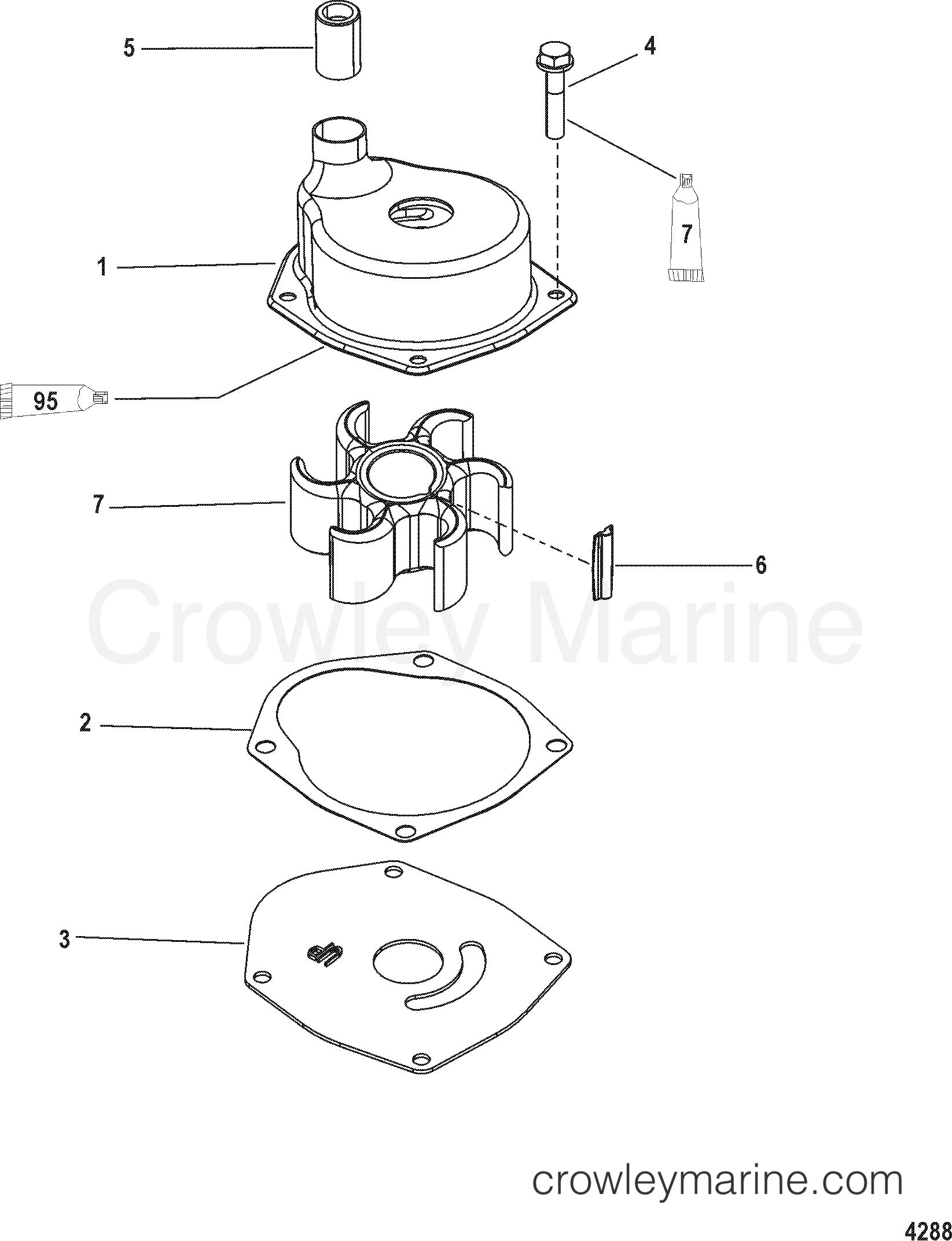 Serial Range Mercury Outboard 80 JET - 0P017000 THRU 0P325499 [BEL] - JET PUMP COMPONENTS section