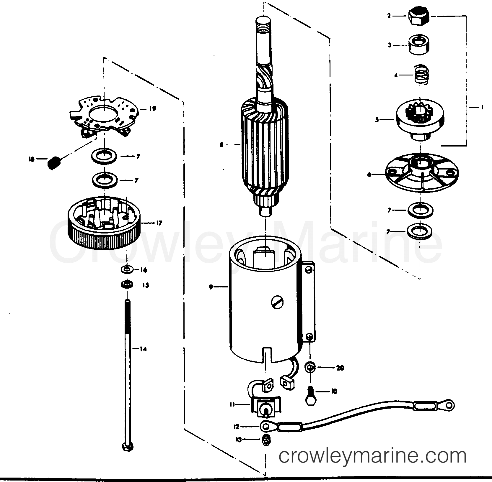 115 1979 mercury chrysler outboard 1151h9a motor leg diagram and