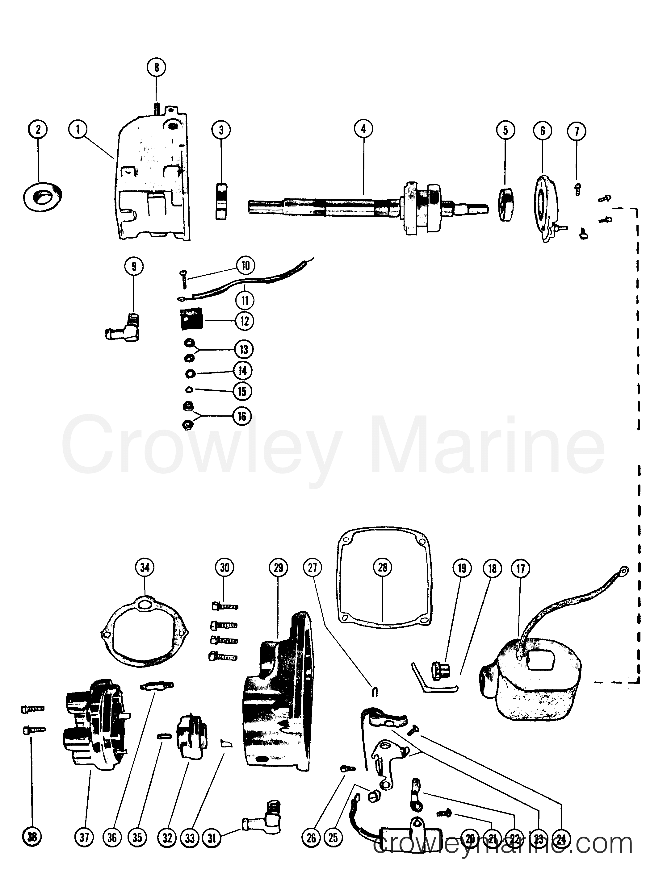 MAGNETO (INTERNAL PARTS) - All Years Mark Outboard MARK 50 ... on magneto generator schematic, magneto diagram, magneto ignition,