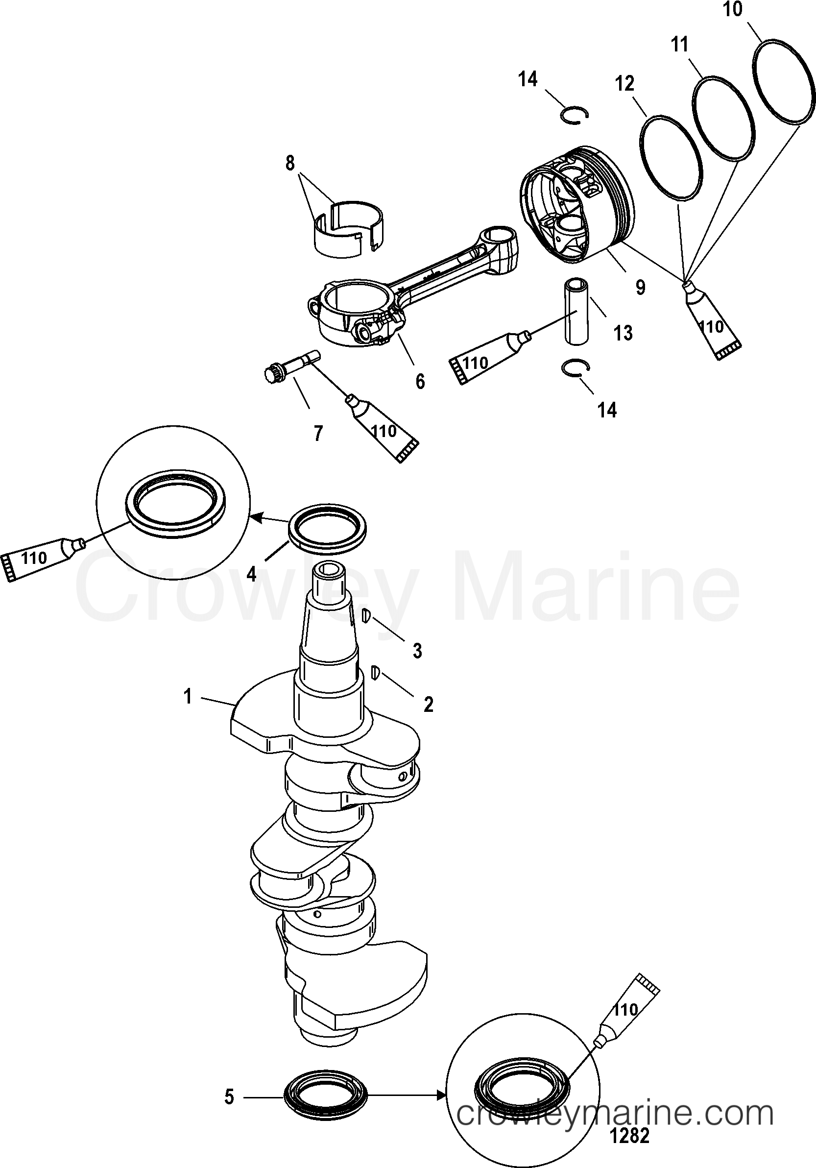 BRAND NEW OEM MERCURY MERCRUISER GASKET SET PART #27-825231A02