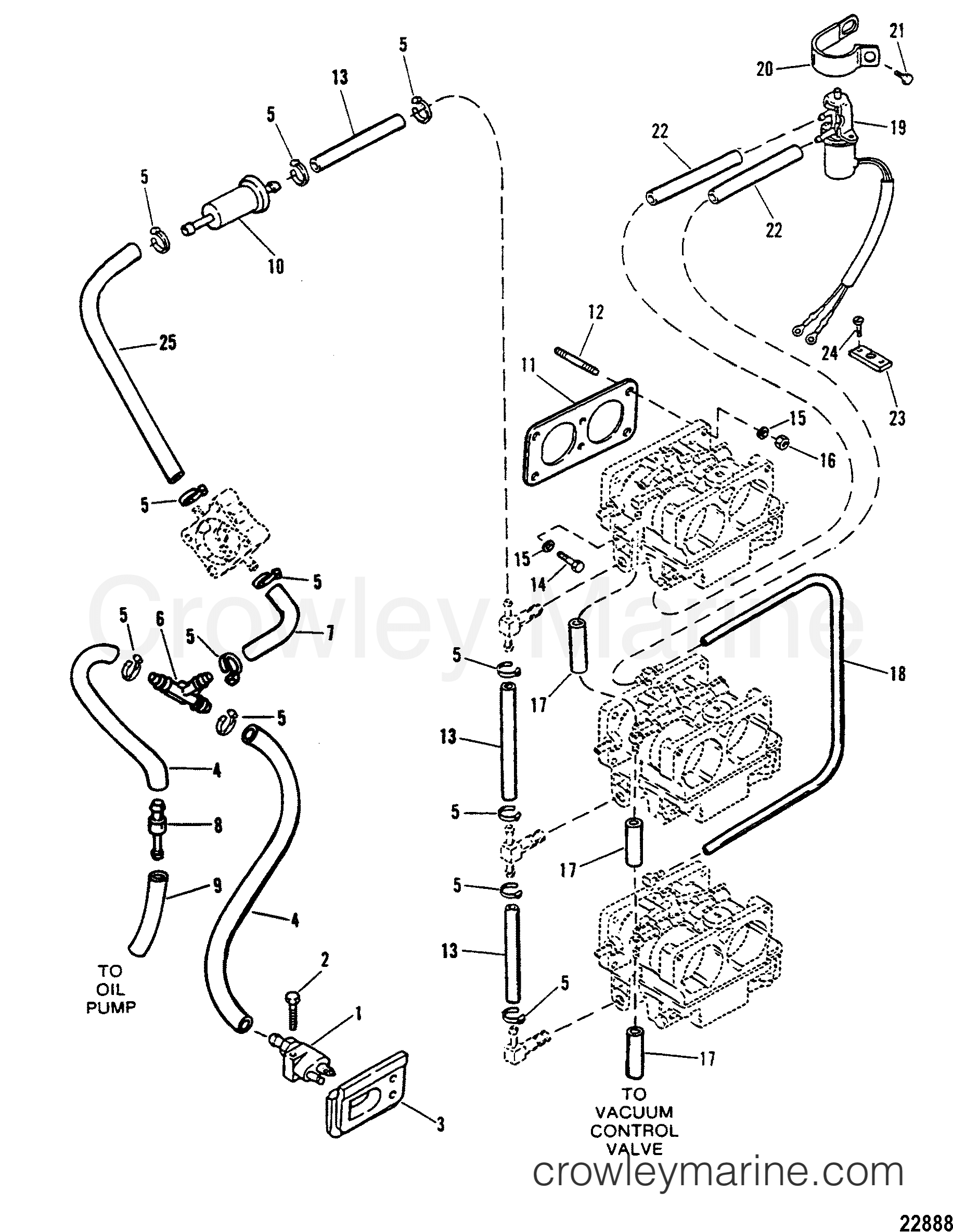 Mercury Fuel Line Diagram Free Wiring For You 100hp Mariner Wire Lines Use With Wmh 12a B Thru 28 Carburtors Copper Connector Marine 100 Hp