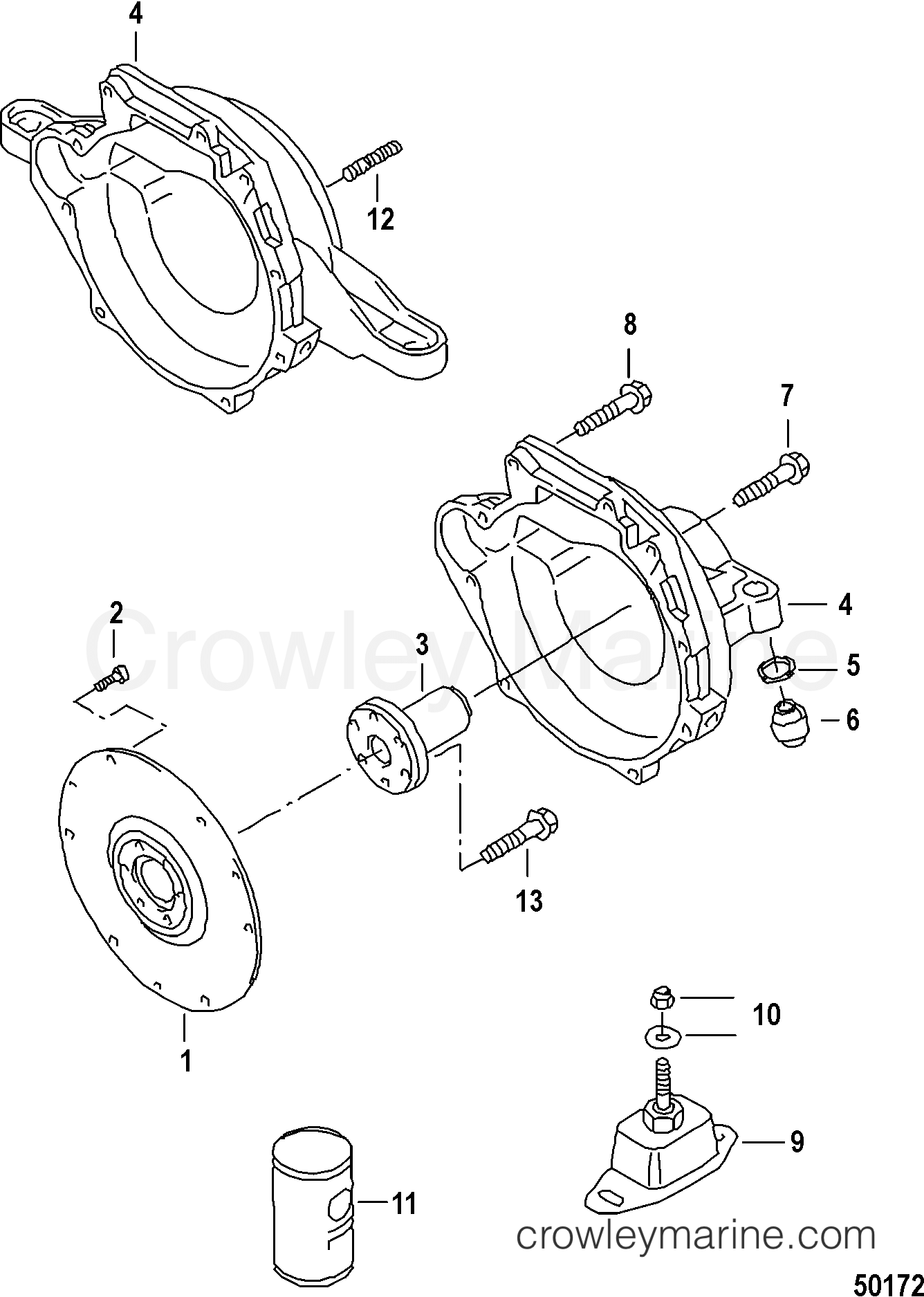 clutch housing  fixture washer