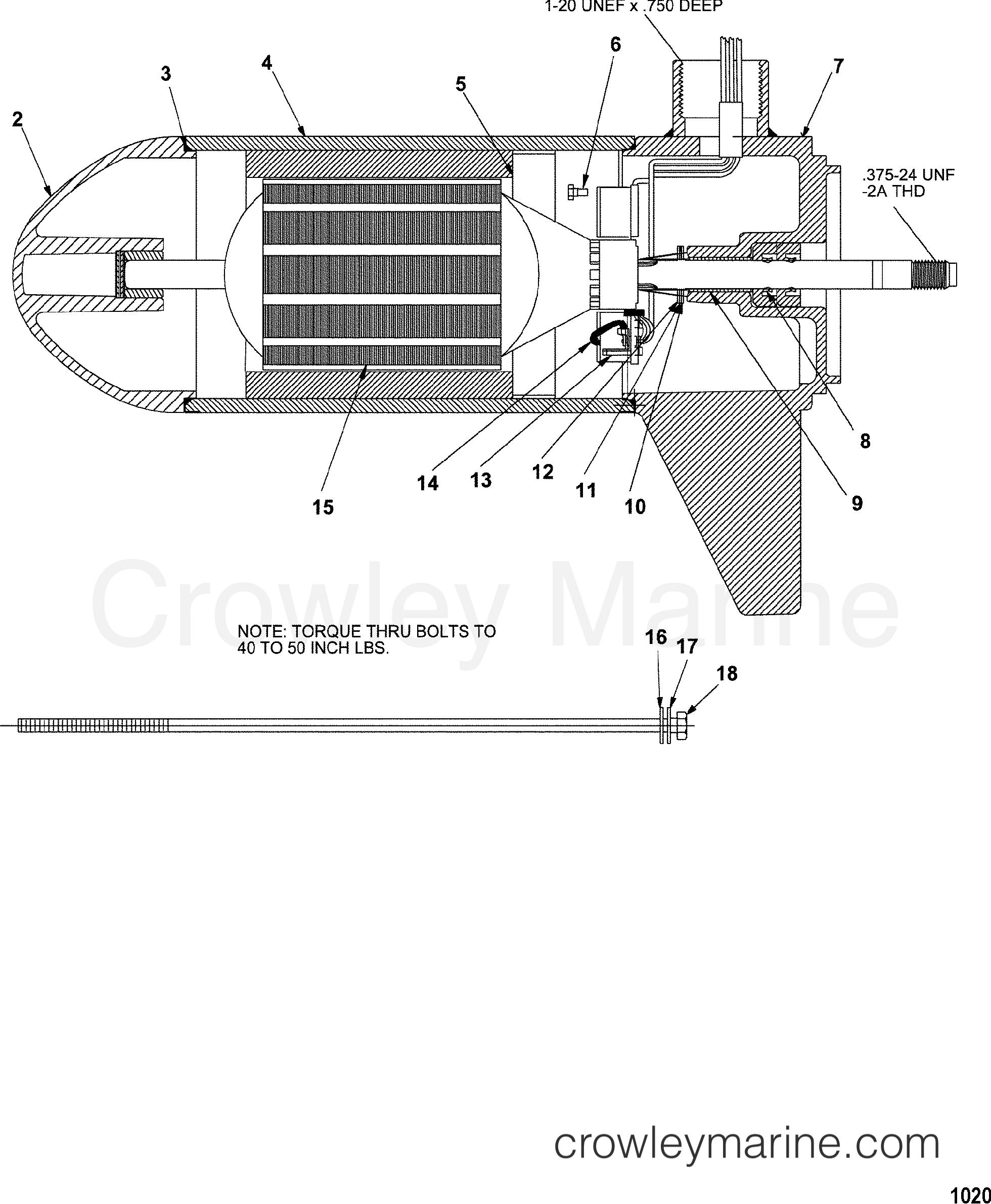 1998 MotorGuide 12V [MOTORGUIDE] - 9HVT507U1 - LOWER UNIT ASSEMBLY(43# - 5/2 SPEED) (MET397012)