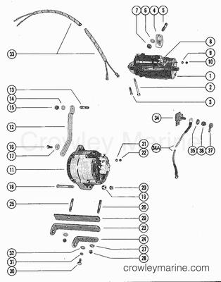 omc alternator wiring diagram with 983 on 983 additionally Mercruiser Charging System Alternators Voltage Regulators And Parts besides Mercruiser 4 3 Wiring Diagram furthermore 1064 besides Water Flow Diagram 2003 Taurus.