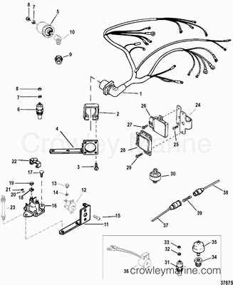mercruiser engine parts identification with 2345 on 2345 also Nissan Sel Fork Lift Engine Diagram furthermore Showthread further Mercury Marine Parts Catalog furthermore Pcm 351 Ford Marine Engine.