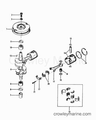 1988 mercury race outboard 25xs  race   19049058h  parts