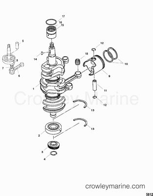 Crankshaft, Piston and Connecting Rods