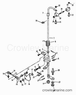 TOWERSHAFT AND THROTTLE LINKAGE