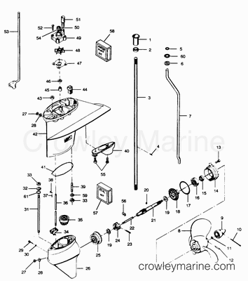 1989 force 50 hp wiring diagram mercury outboard impeller