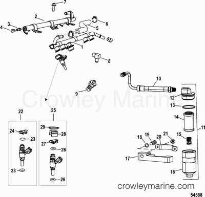 Sea Ray Ignition Wiring Diagram additionally Mercruiser Engine Paint further Rochester Carburetor Filter together with  on crusader fuel pump wiring diagram
