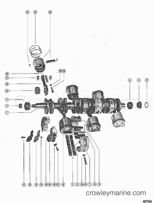 CRANKSHAFT, PISTONS AND CONNECTING RODS