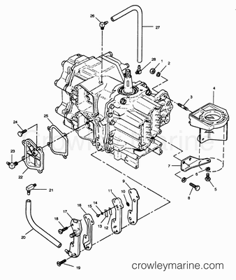 RECIRCULATION SYSTEM AND STARTER BRACKETS