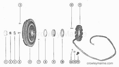 FLYWHEEL ASSEMBLY AND STATOR
