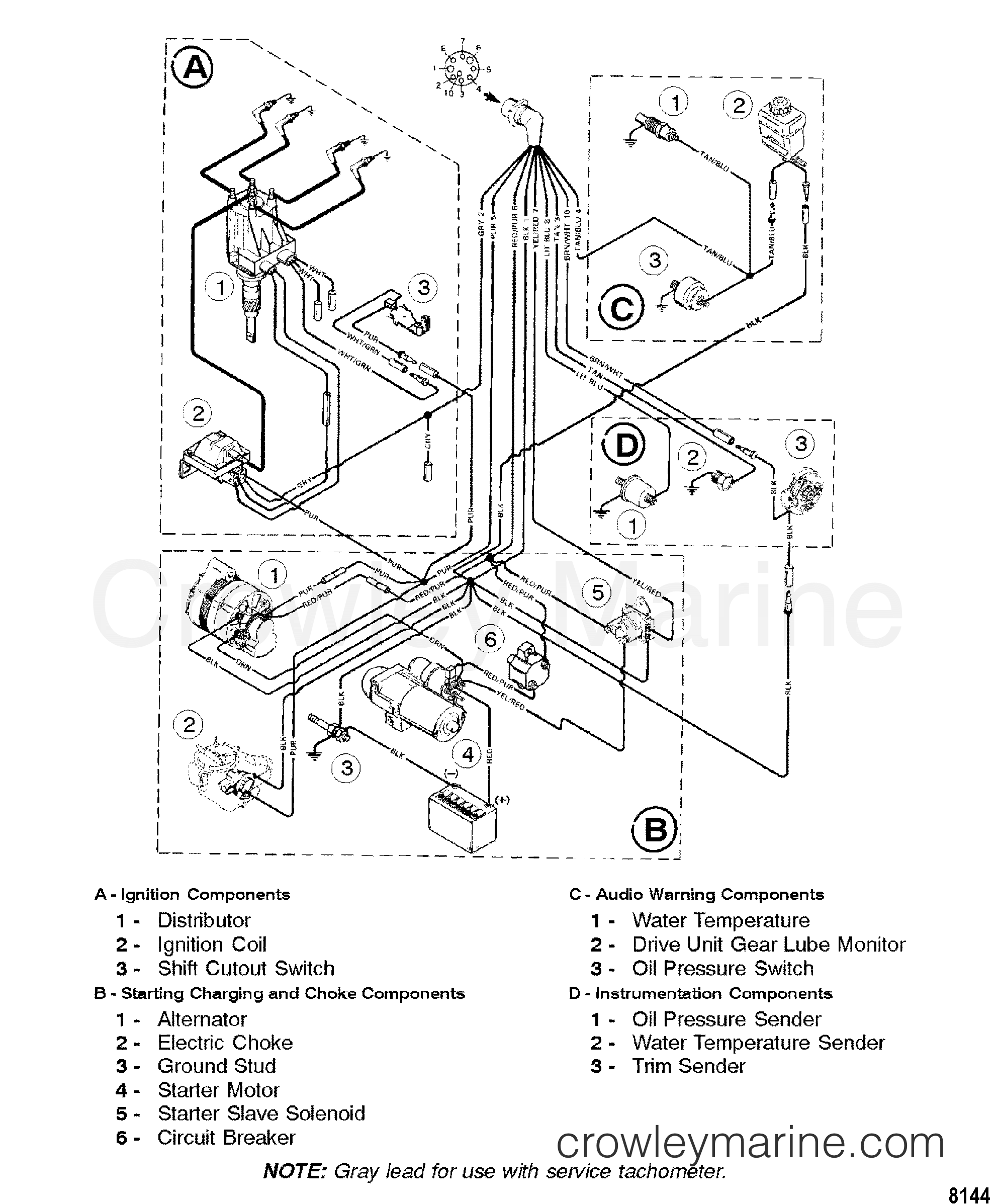 1998 Mercruiser 3.0L [ALPHA] - 4111021L1 - WIRING HARNESS section