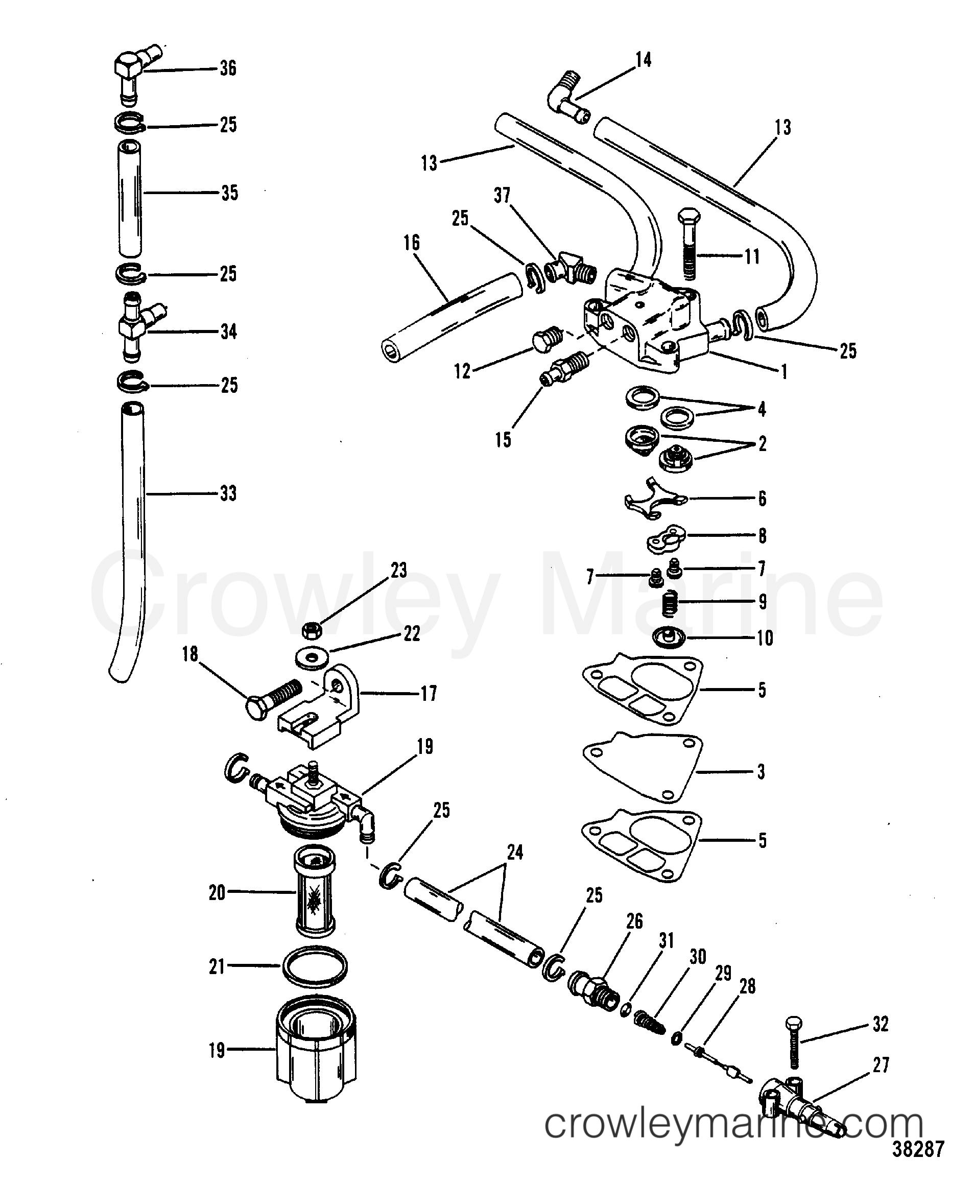 fuel pump  fuel filter and fuel lines