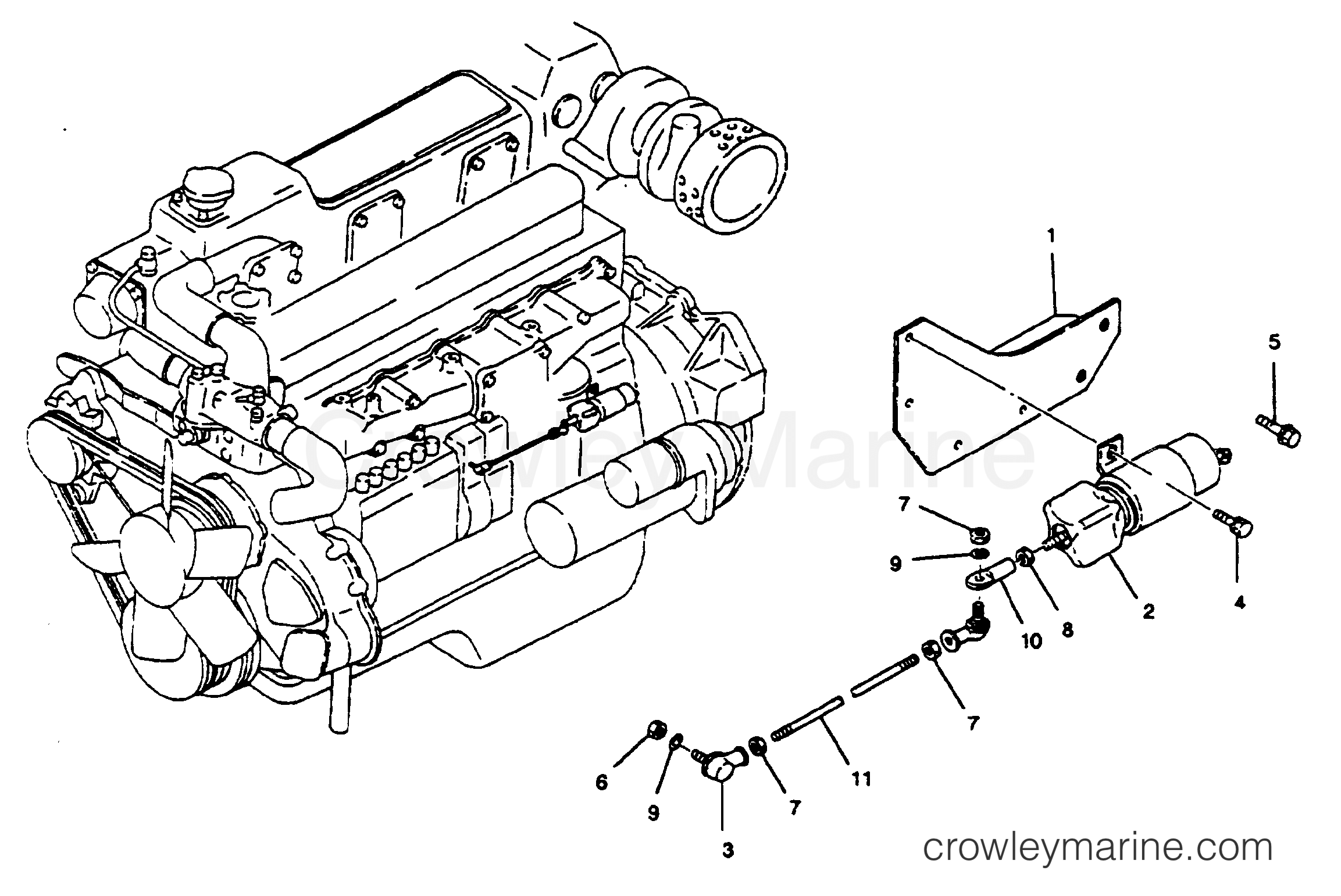 1993 Mercury Inboard Engine 5.8LD [STARBOARD] - 35822D9FS STOP SOLENOID section