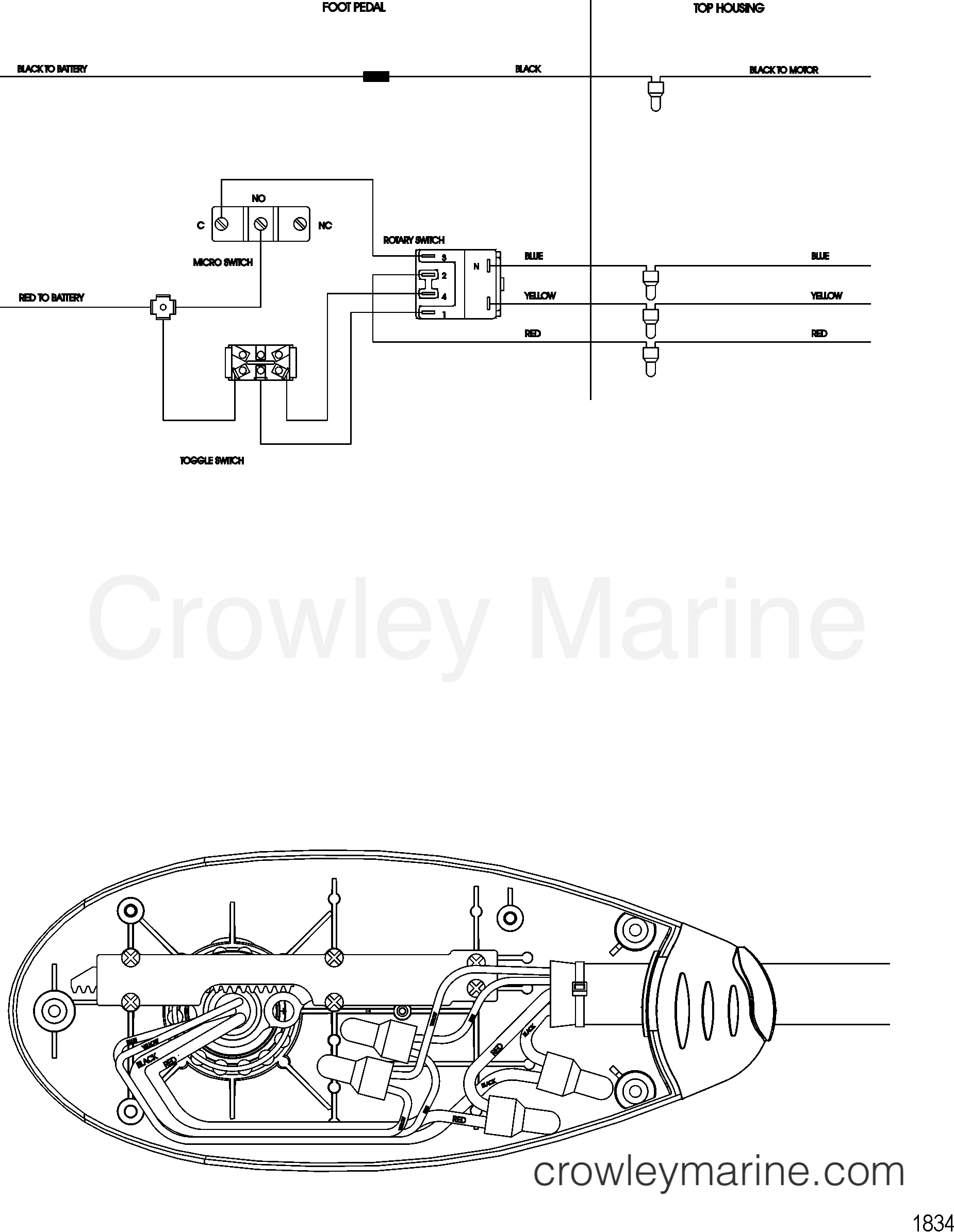 2008 MotorGuide 12V [MOTORGUIDE] - 92141001R - WIRE DIAGRAM(MODEL FW40FB) section